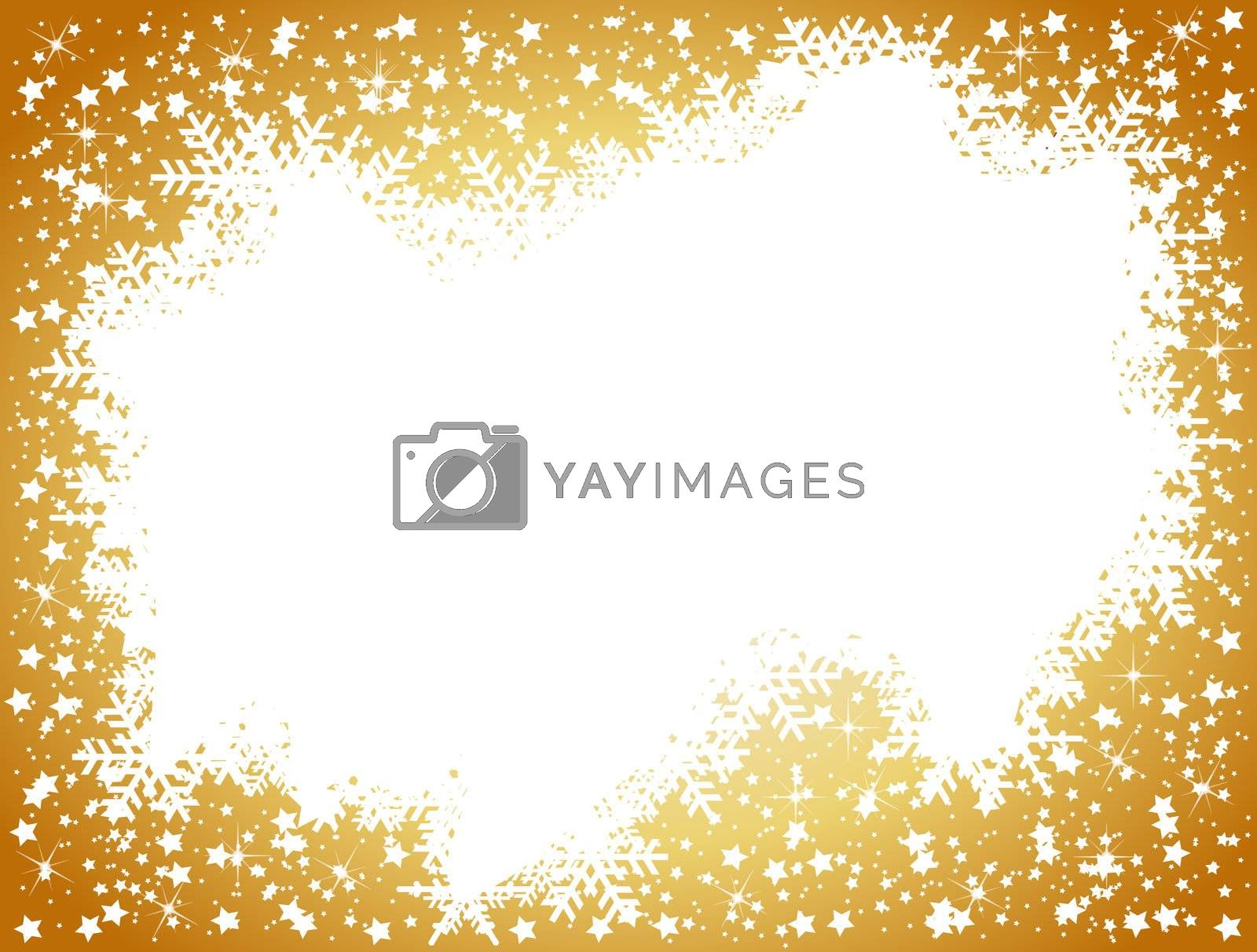 golden christmas background- space for your text by peromarketing