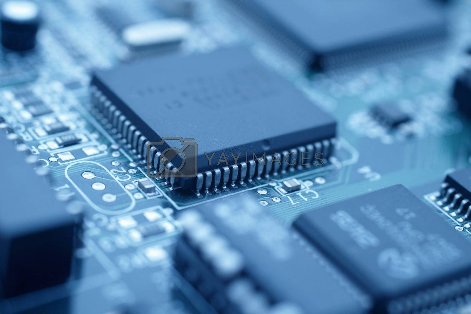 Royalty free image of Futuristic technology - Cool blue image of a cpu by FreedomImage