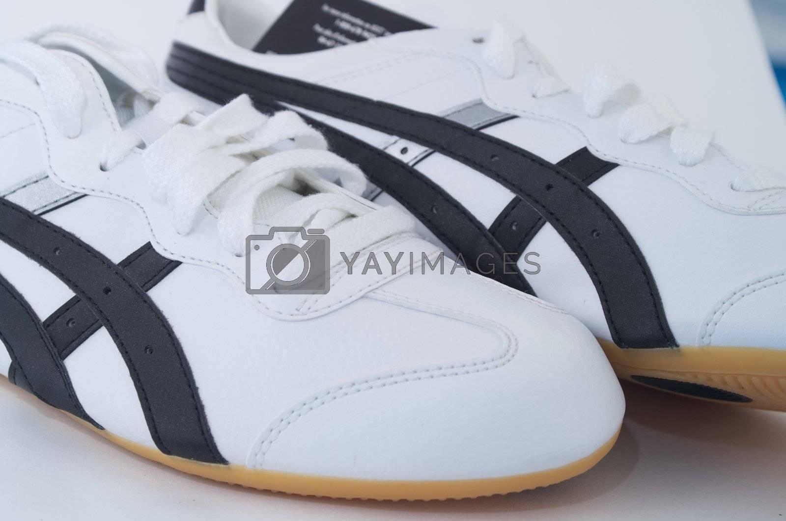 White gym shoes