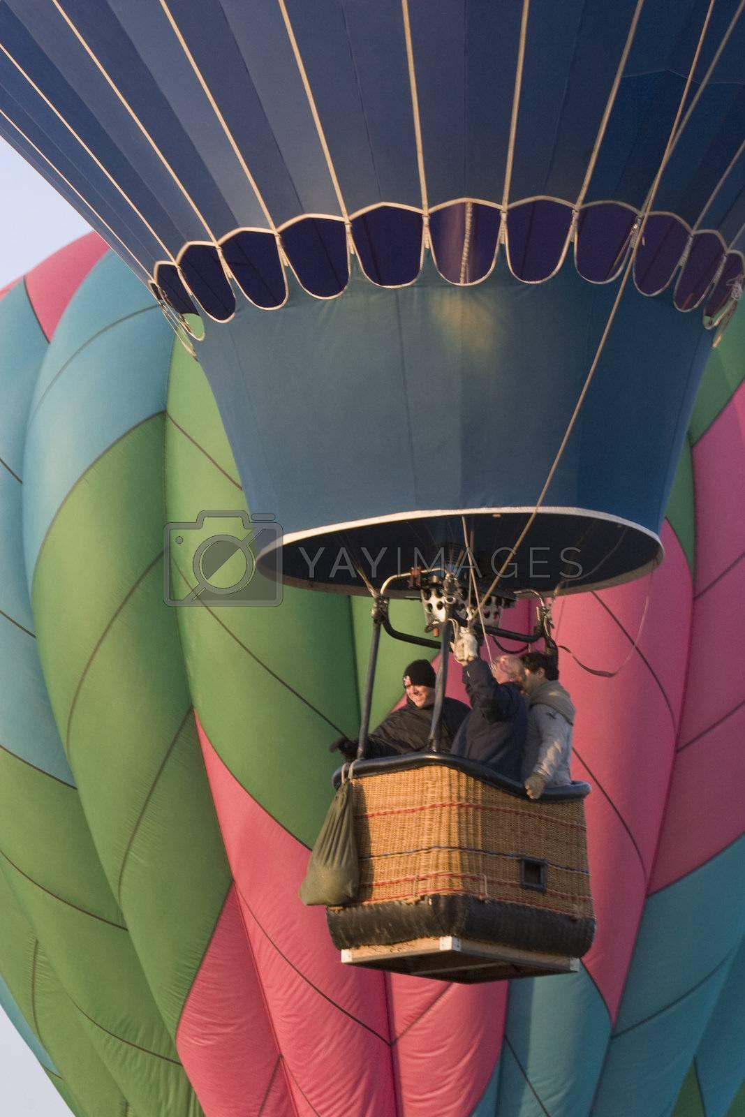 """hot air balloon rising at """"Hot Air Balloon Harvest"""", Greeley, Colorado, October 28, 2007"""