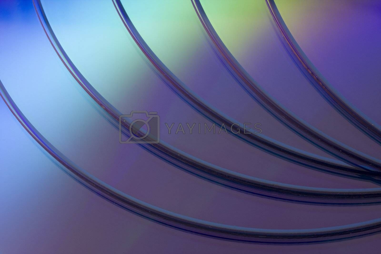 a stack of blank DVD or CD disks -  background