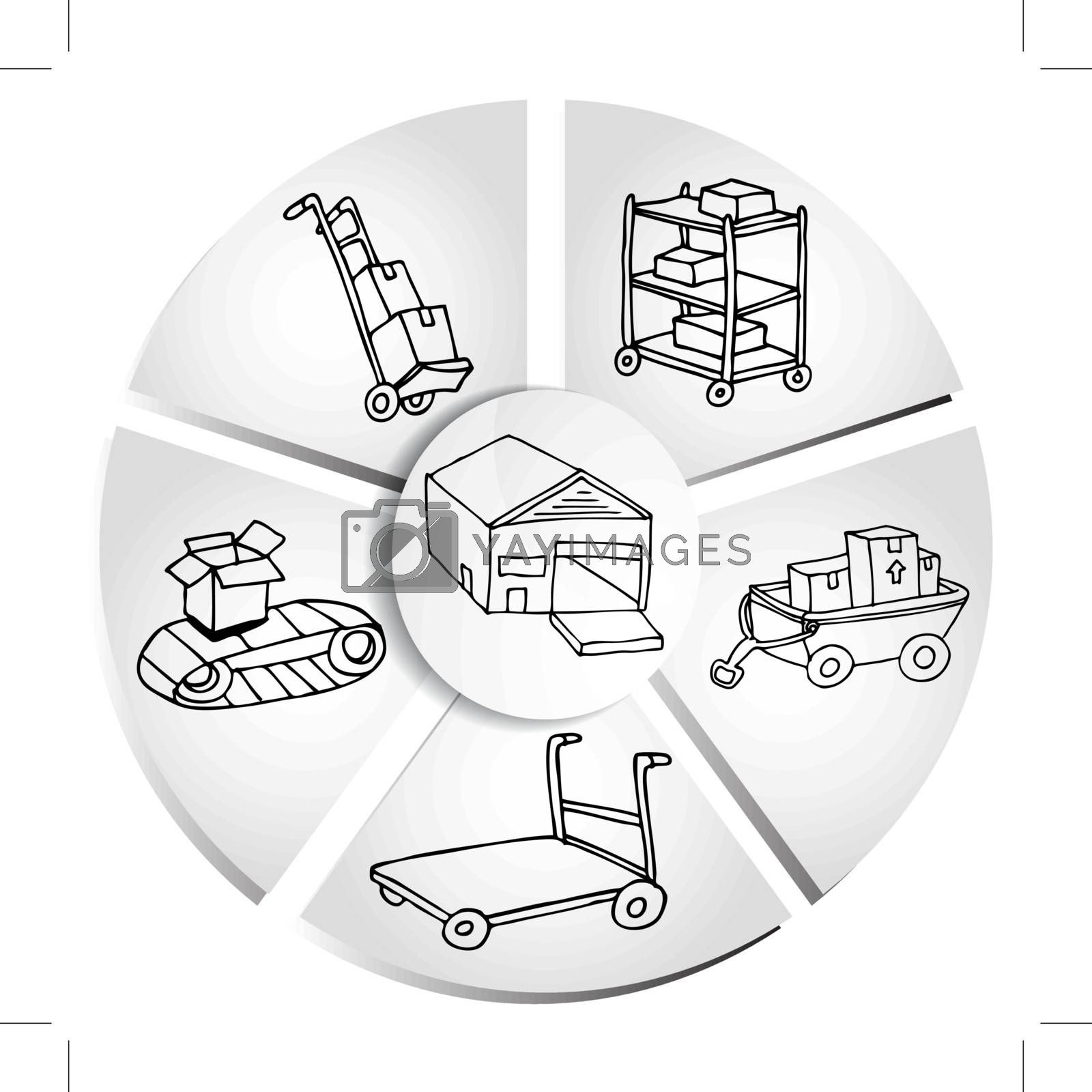 An image of a shipping box manufacturing chart.