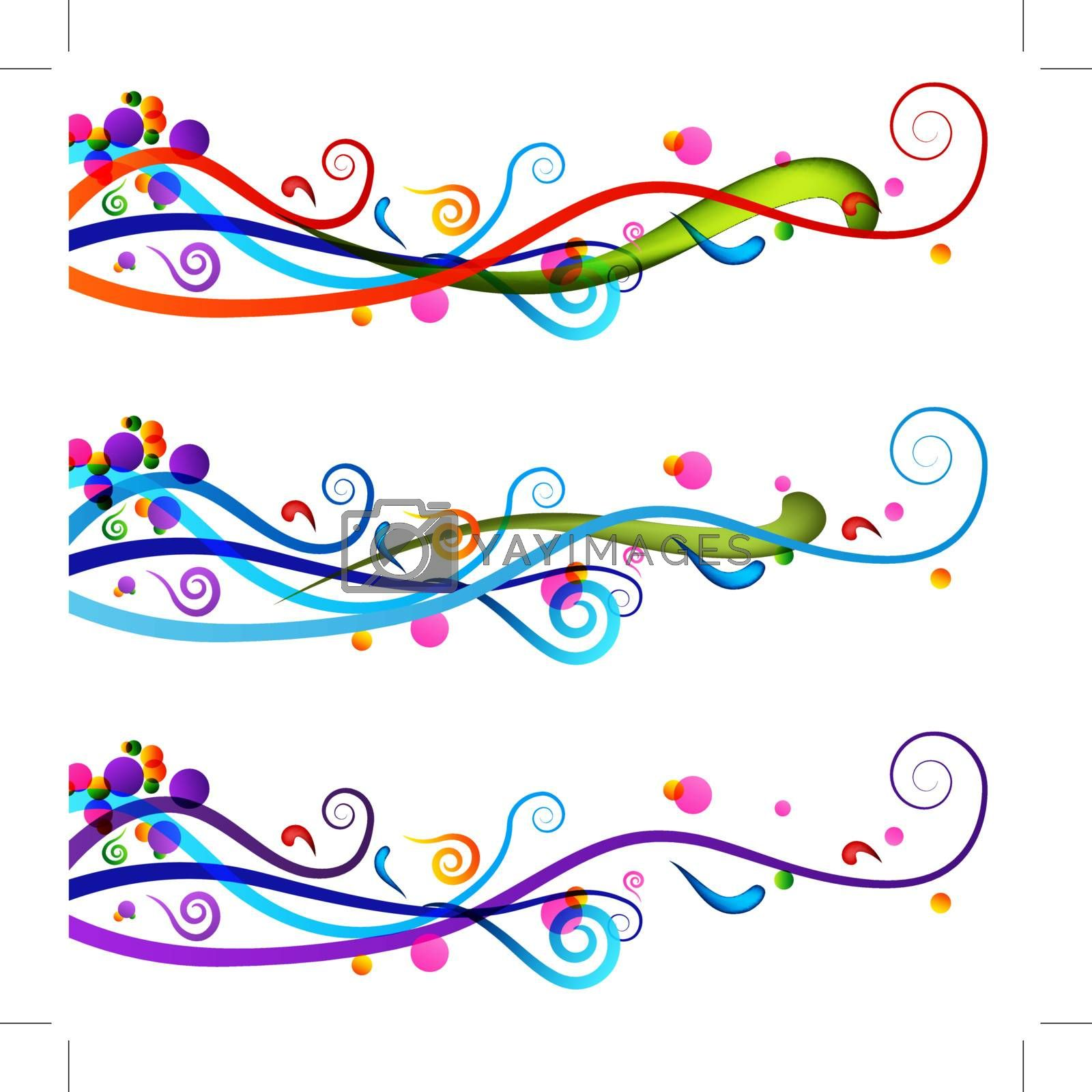 An image of a colorful festive celebration banner set.