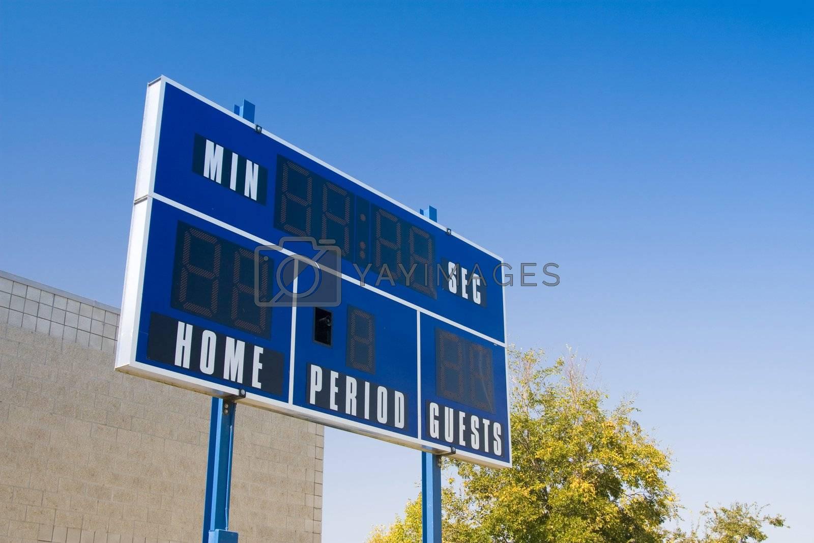 Sports arena scoreboard