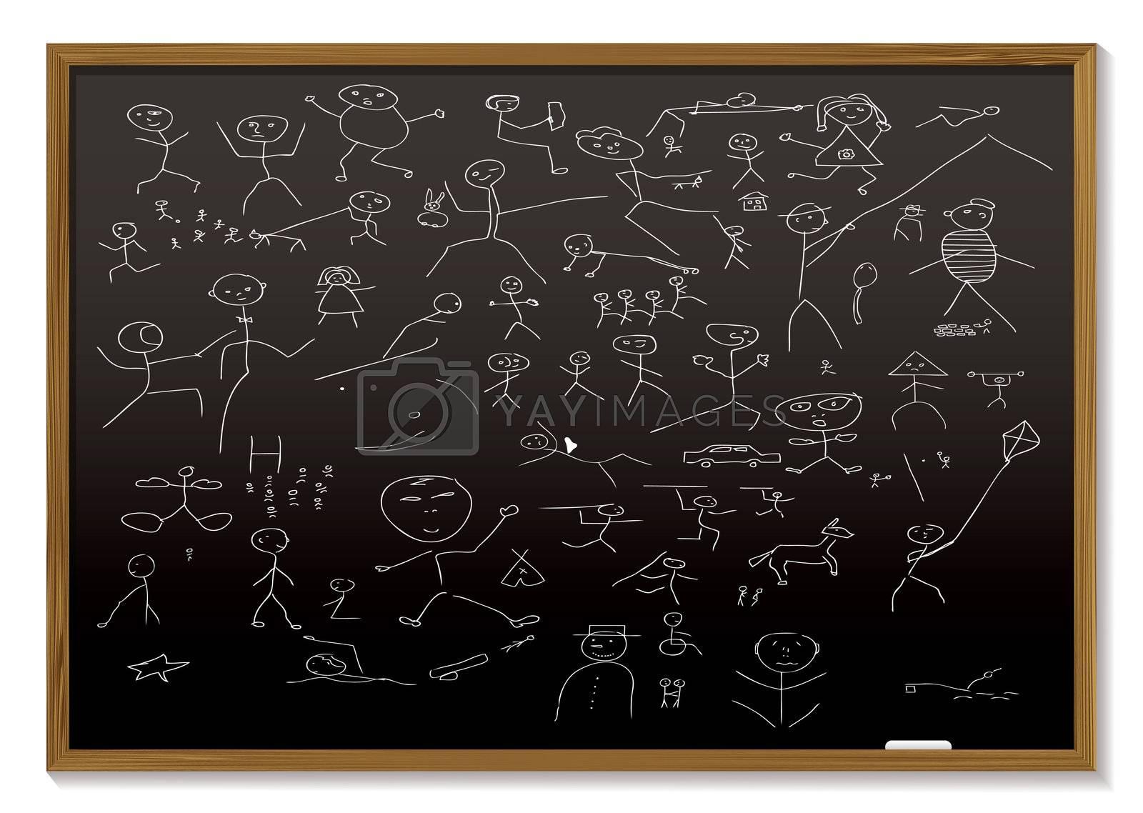 stick man blackboard by nicemonkey