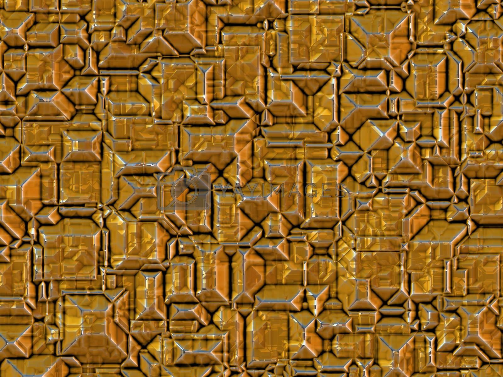 a rendering of an orange metallic background