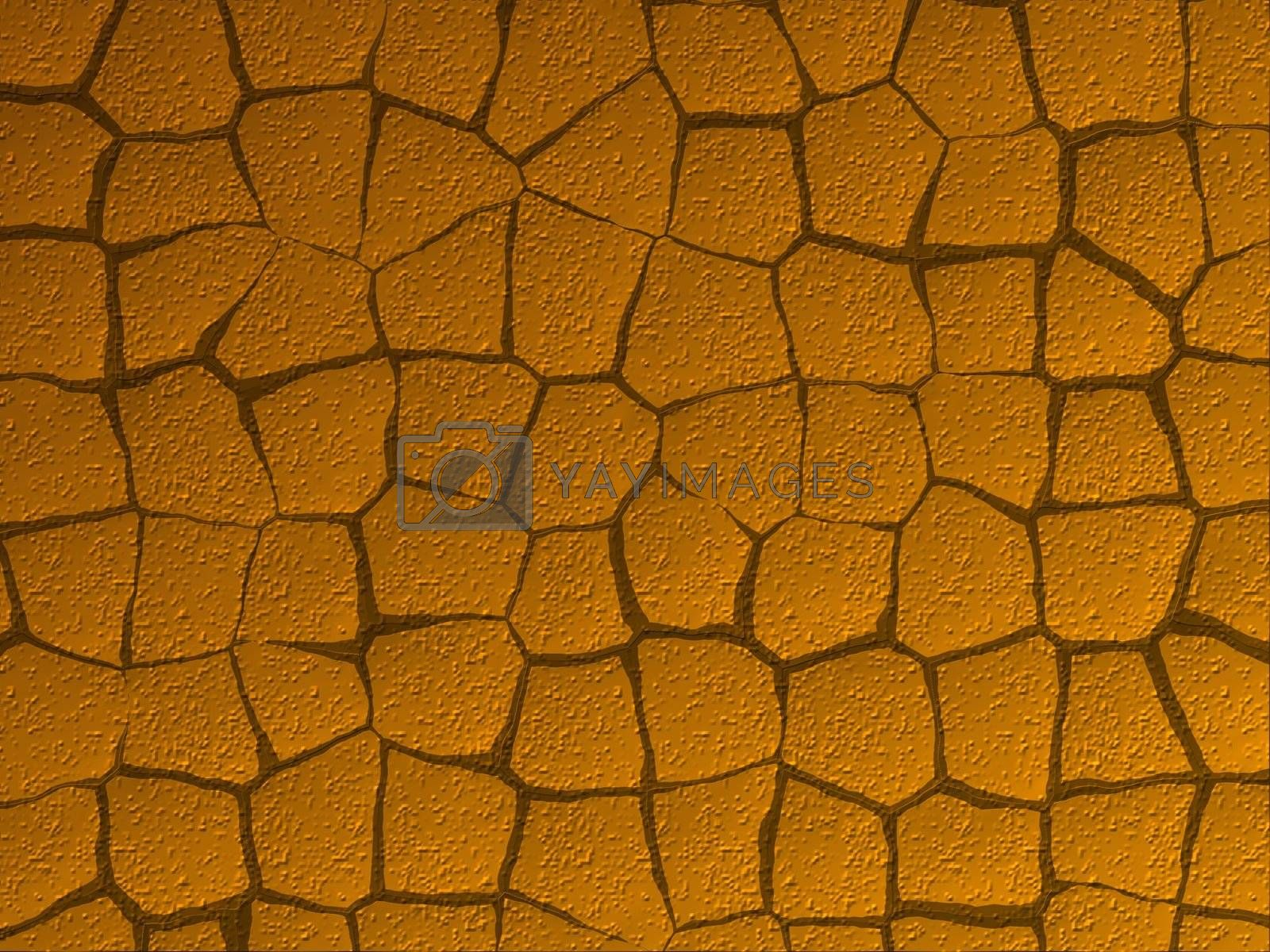 texture of a brown cracked ground