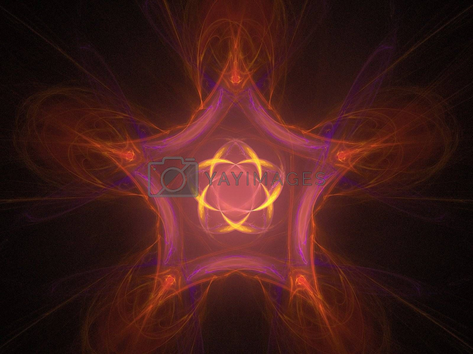 star shape created with fractal functions