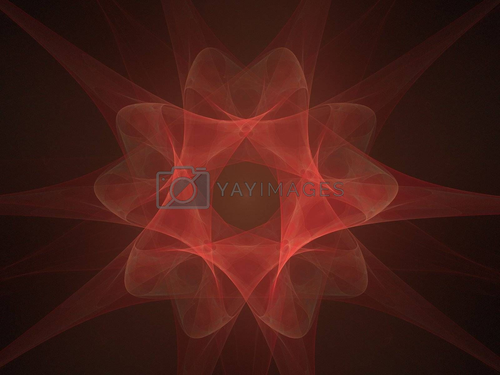 red abstraction created with fractal functions