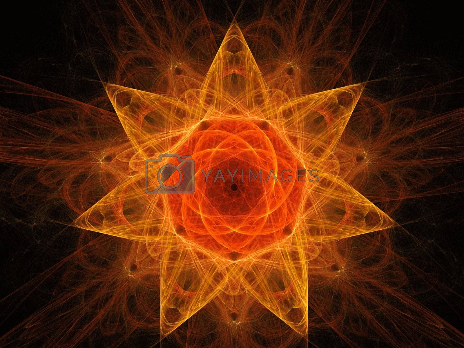 a star rendering created with fractal functions