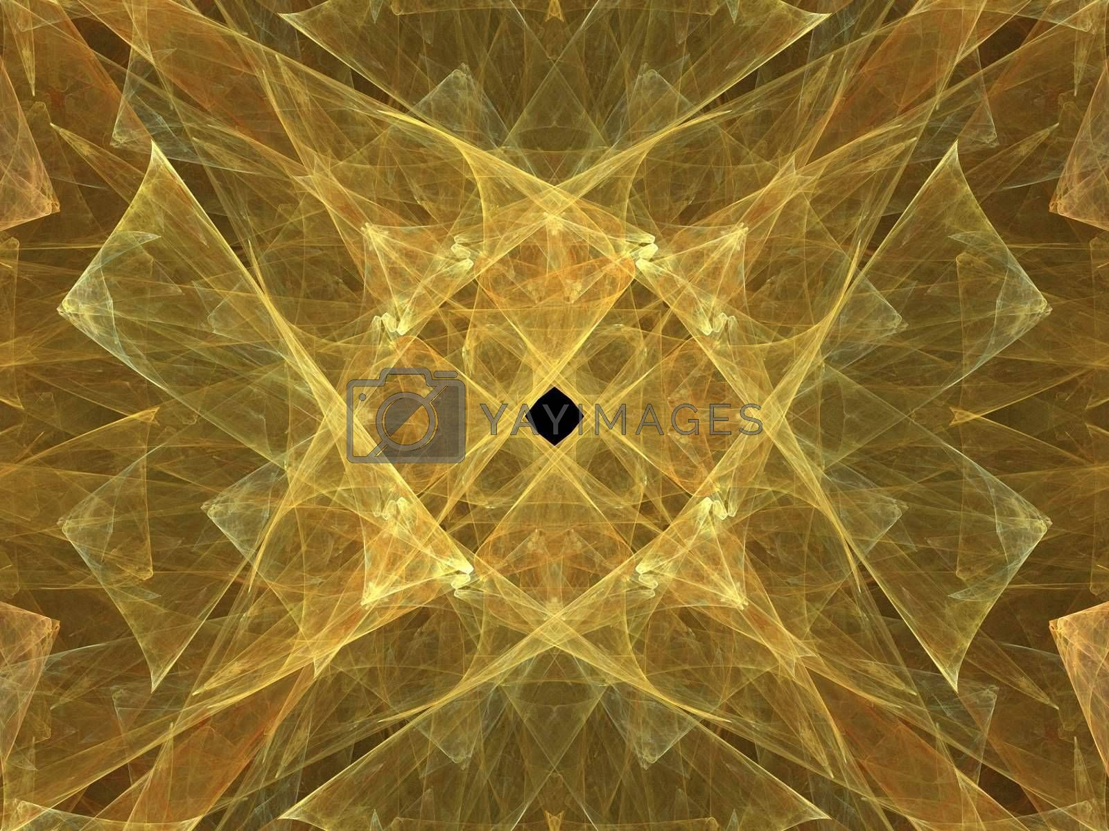 yellow background created with fractal functions