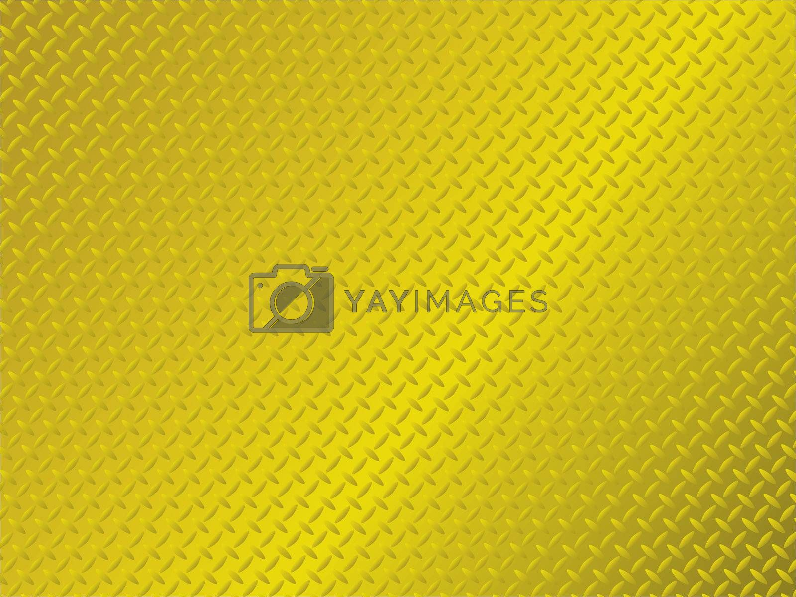 golden metal background with anti slip surface pattern