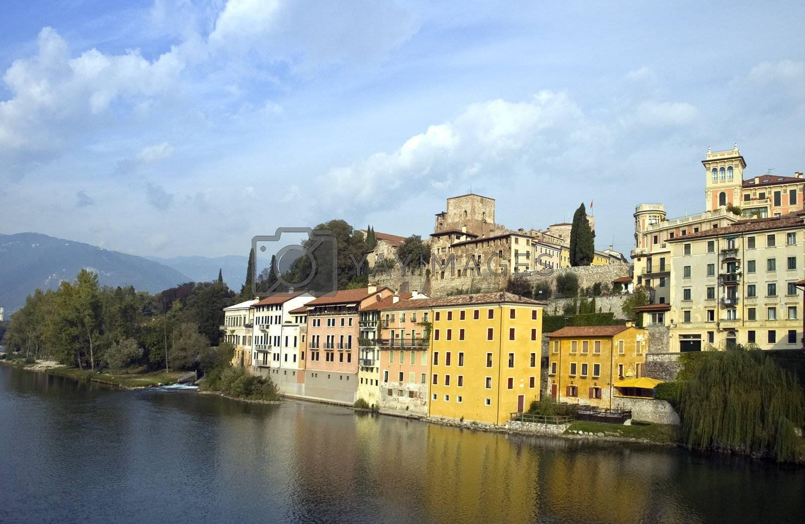 Houses on the river Brenta
