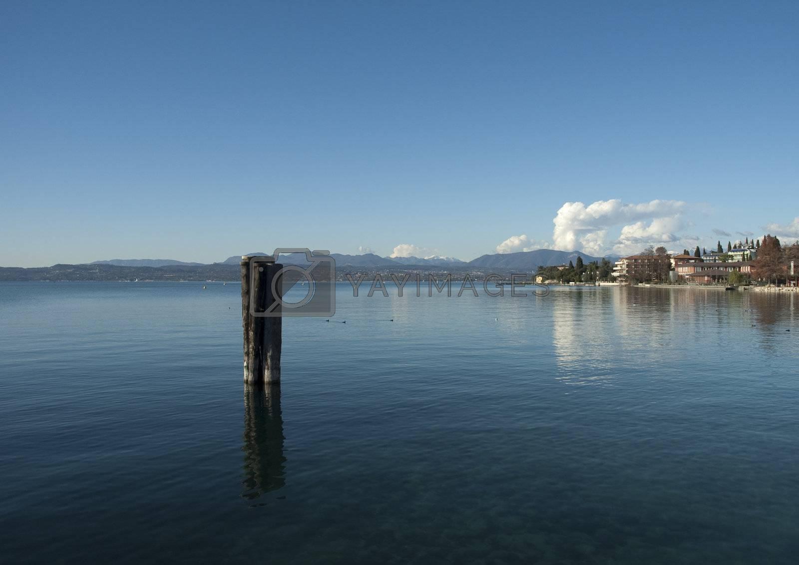 Overview of Lake Garda dawn