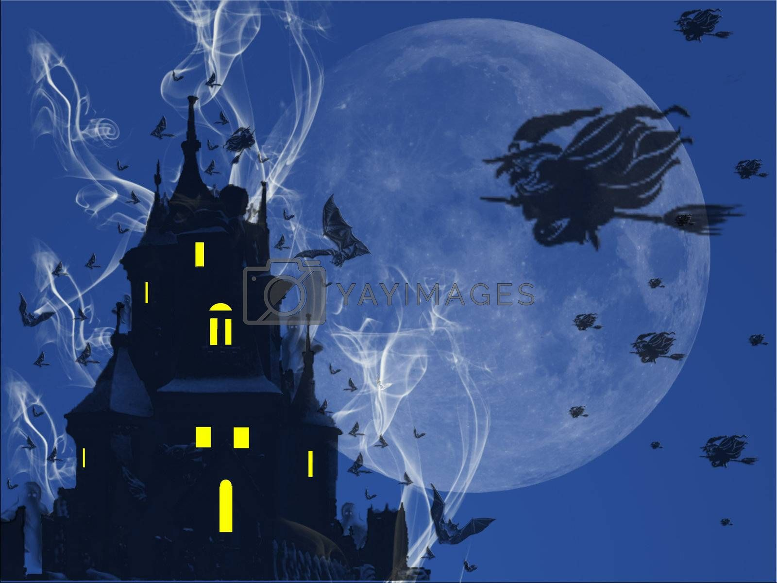 Castle ghosts, witches and bats