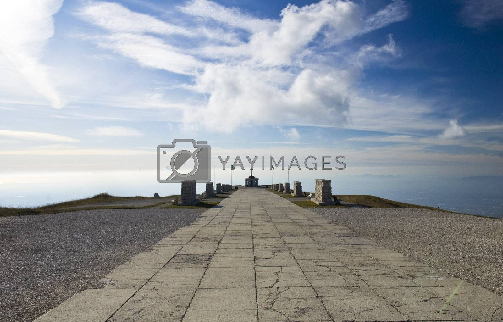 Panorama entry over shrine on Monte Grappa