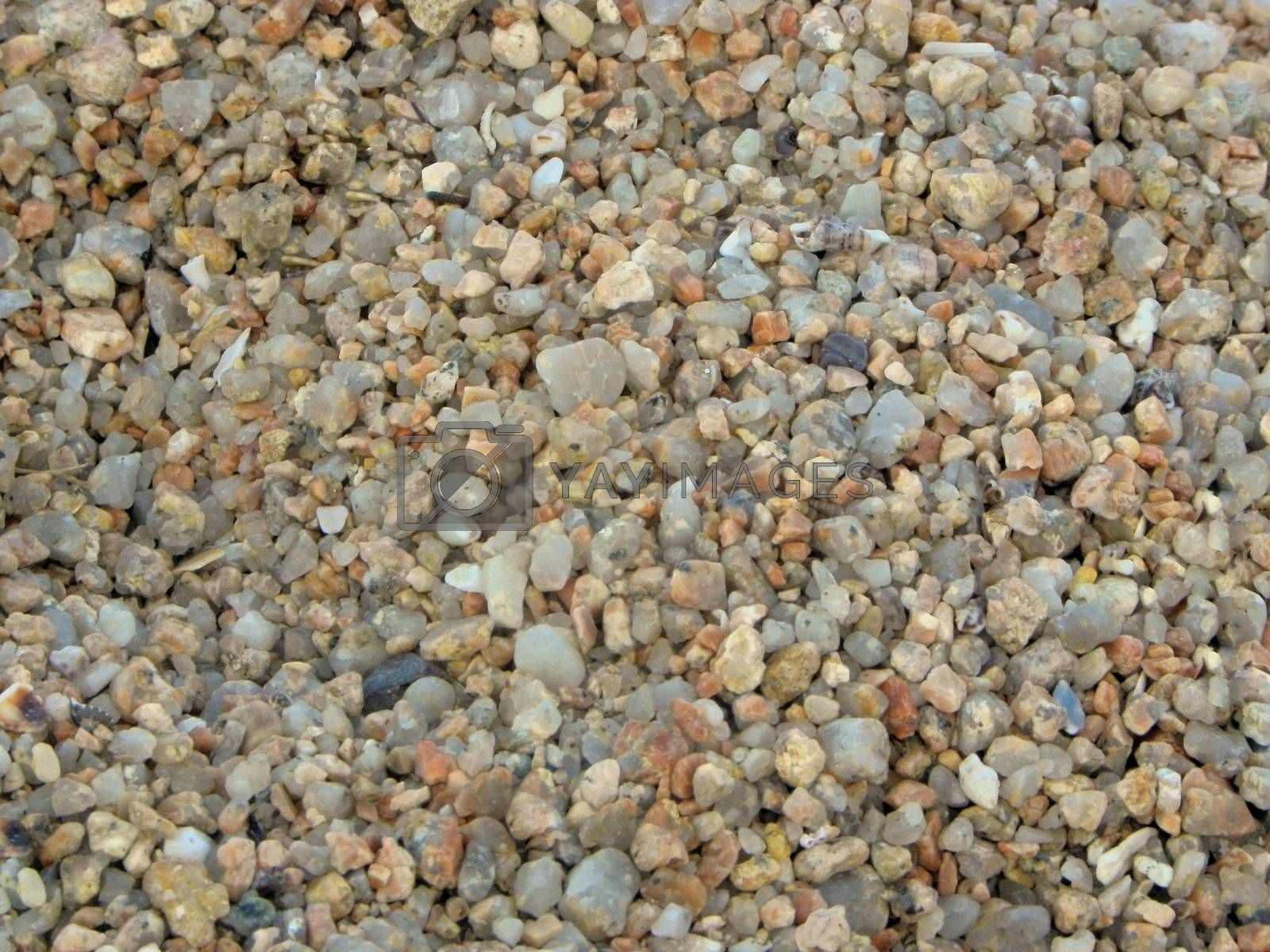 Small stones on a beach