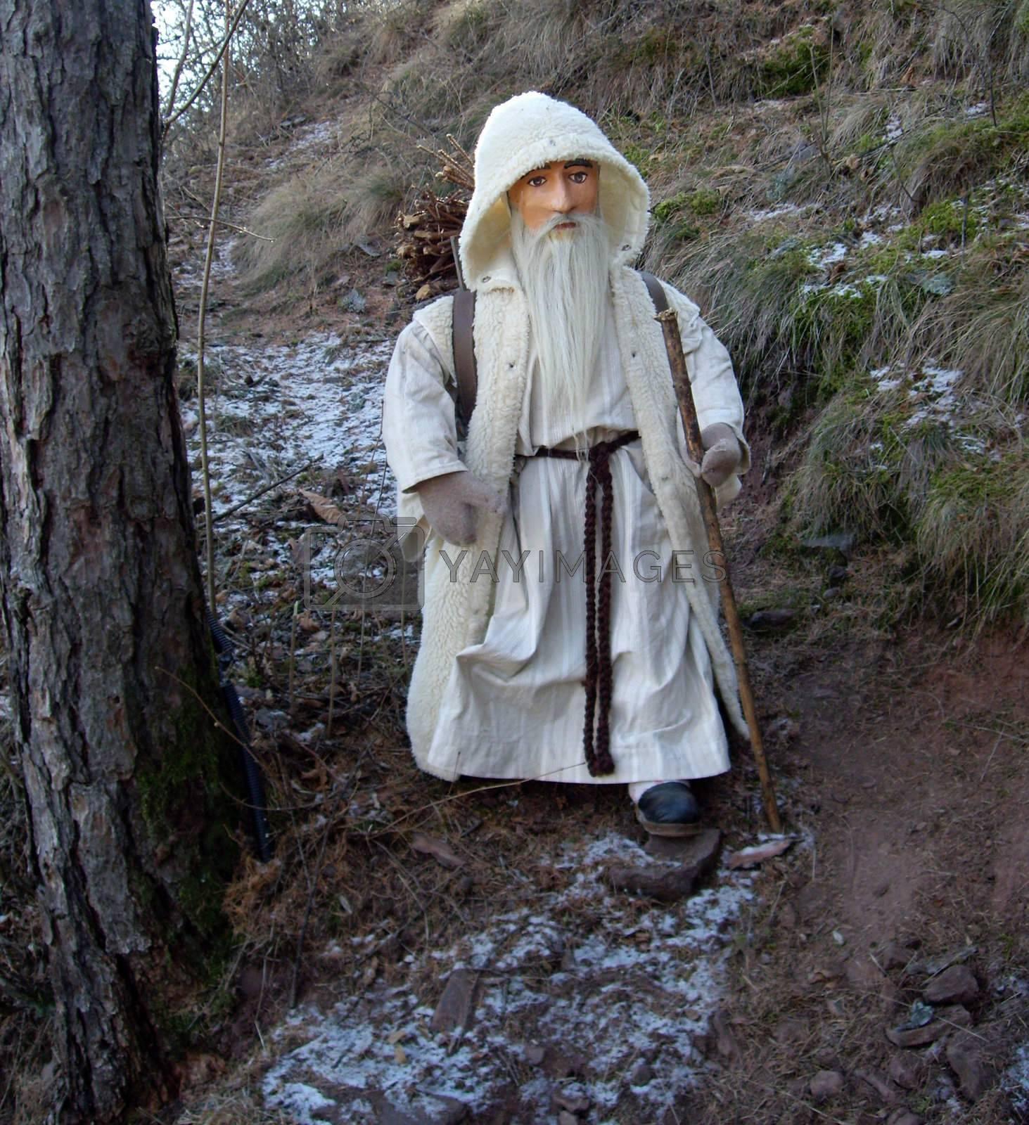 Statue of a nativity scene outdoors in Trentino