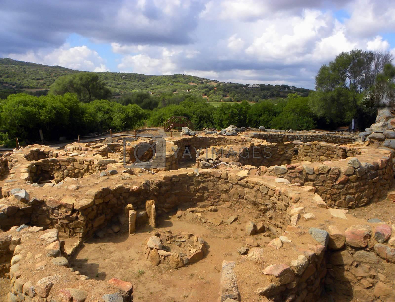 ancient village Nuraghe in Sardinia