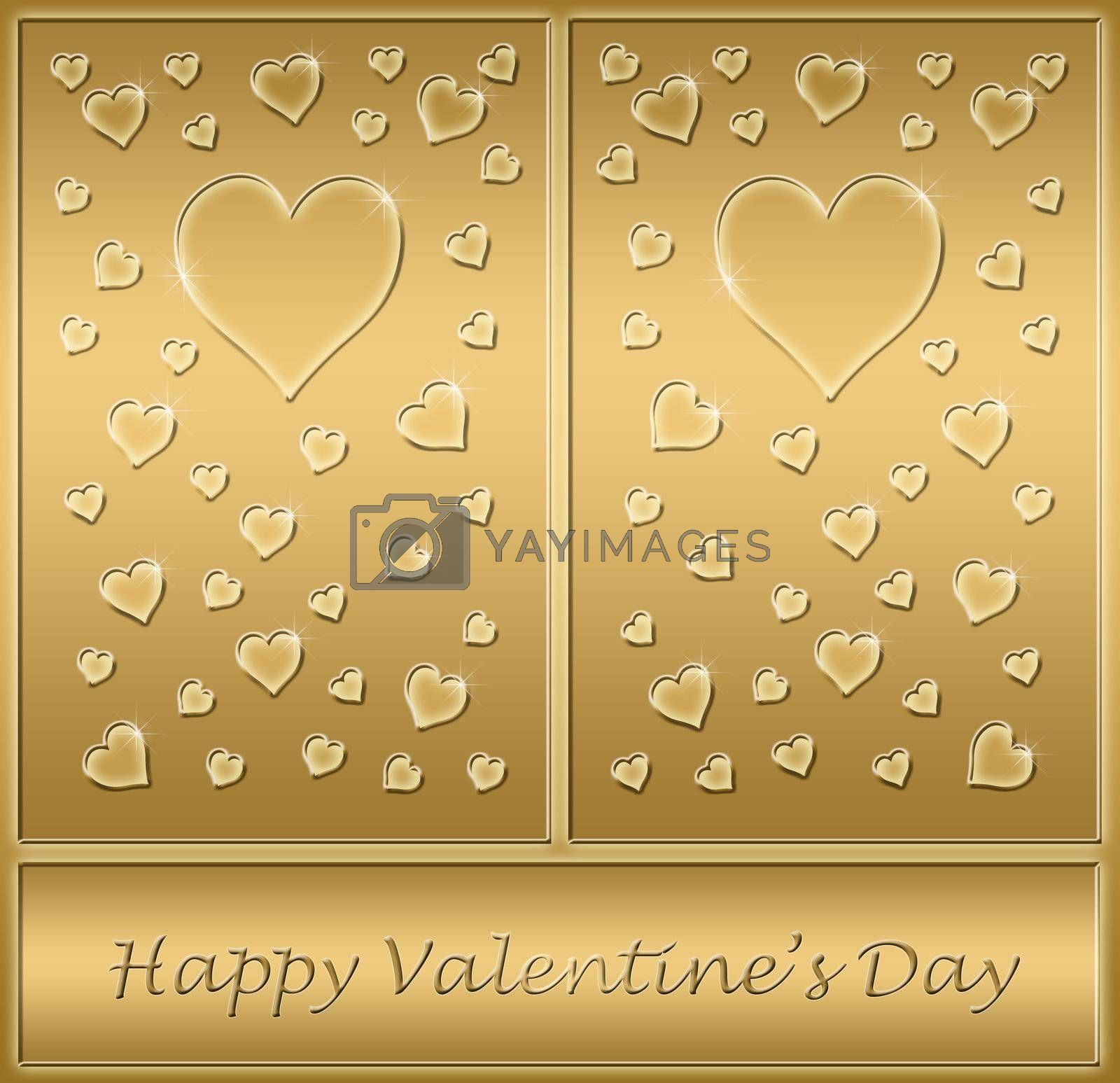 a beautiful valentines card with love hearts