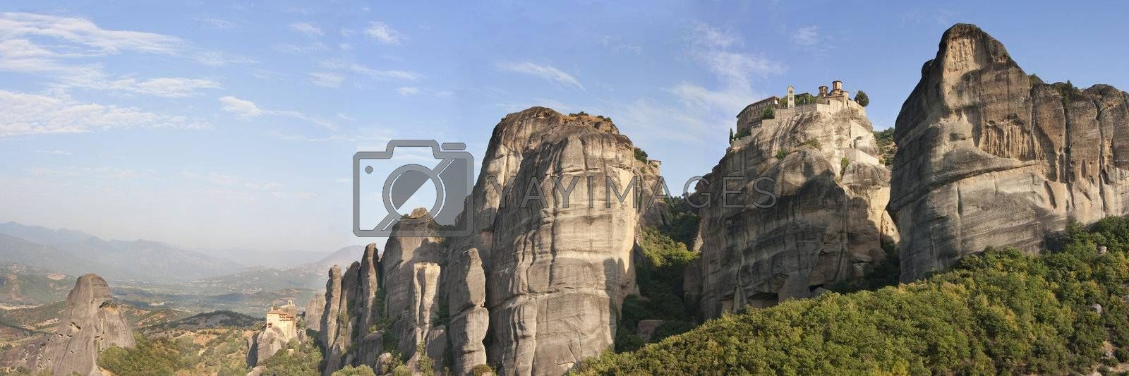 view of the meteora monasteries monuments travel destination in greece