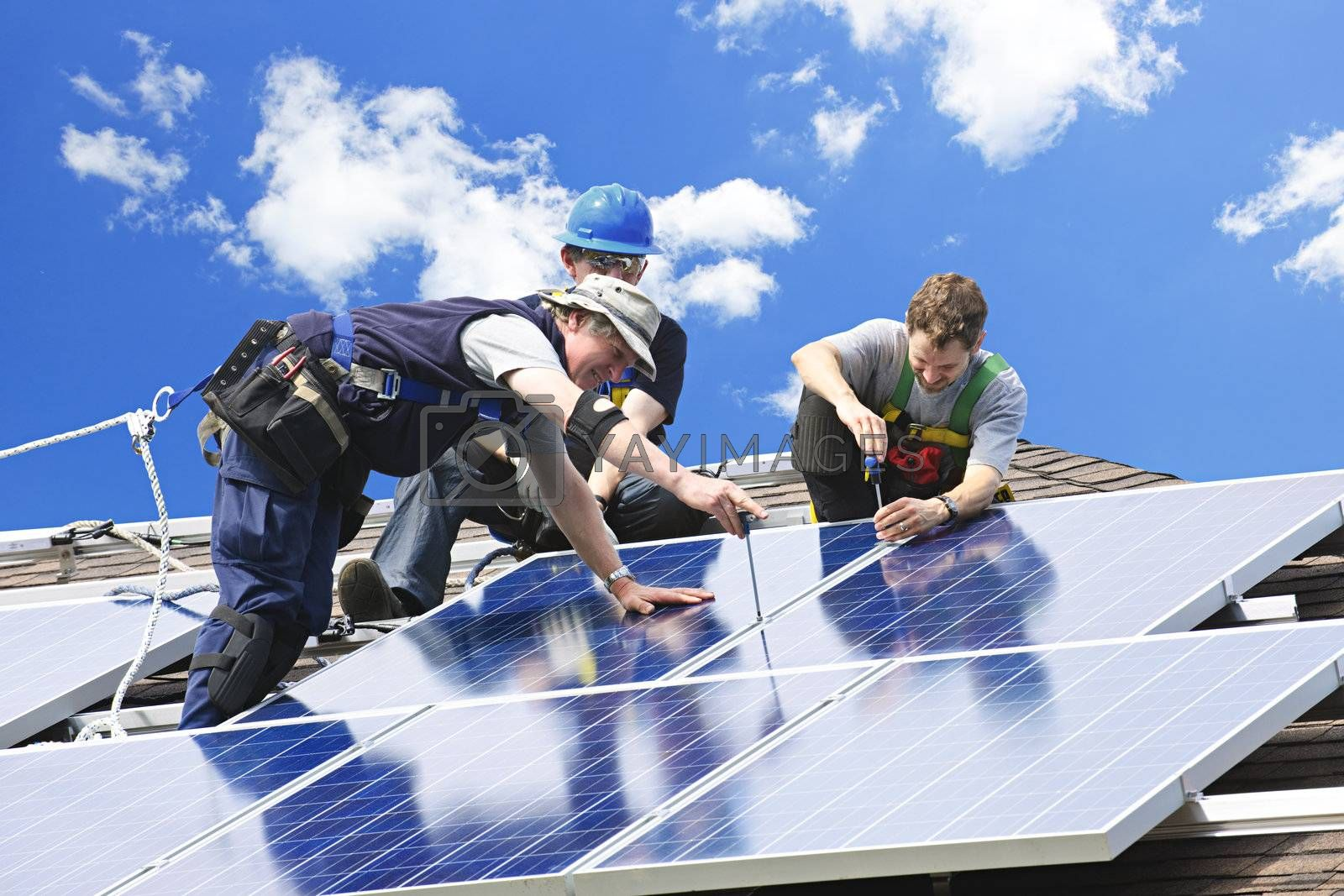 Solar panel installation by elenathewise
