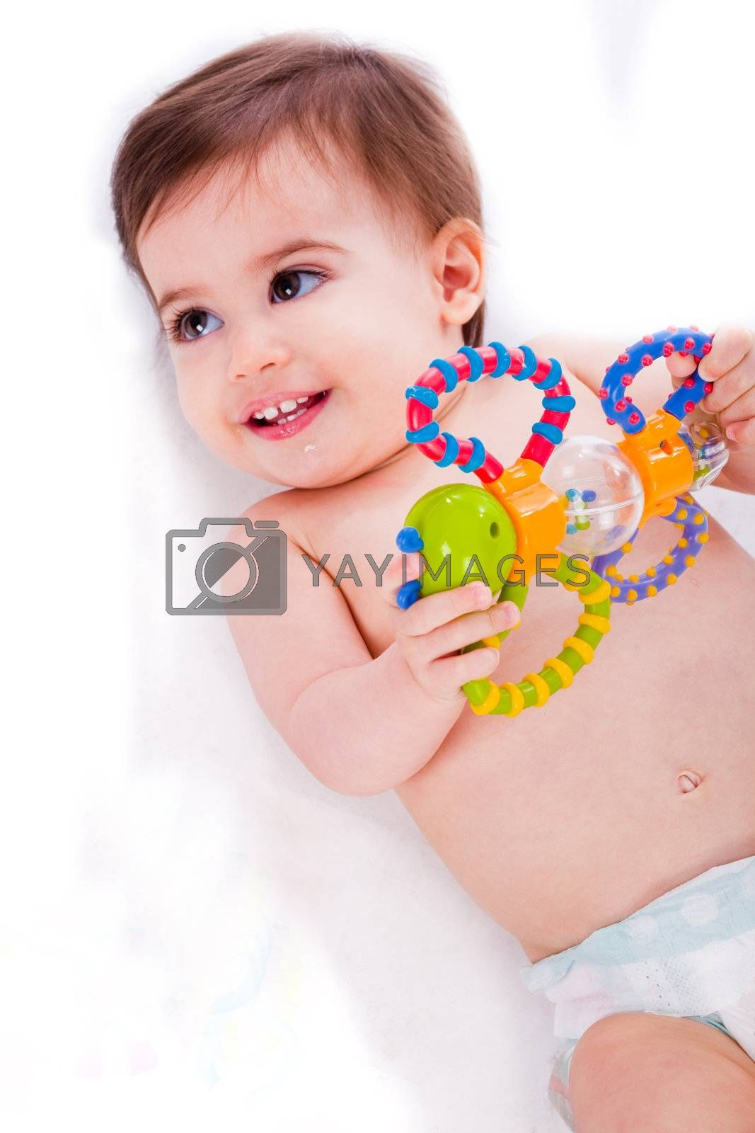 Baby playing with toys by get4net