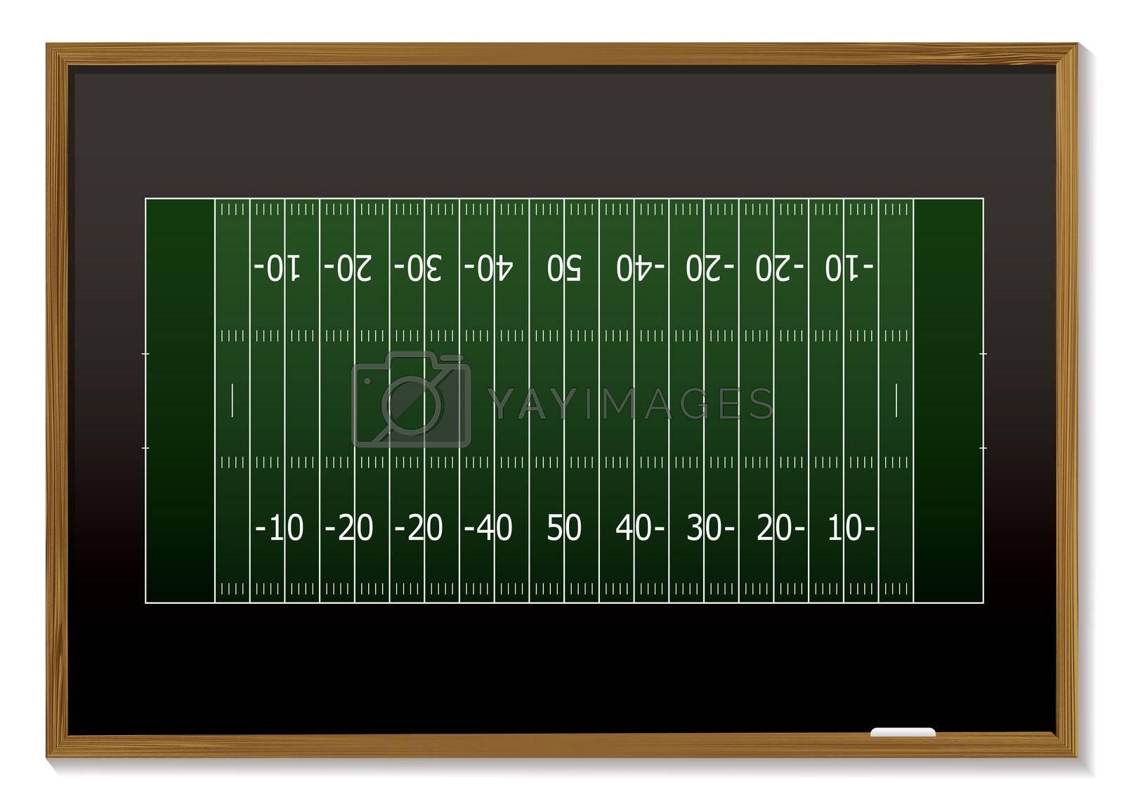 american football blackboard by nicemonkey