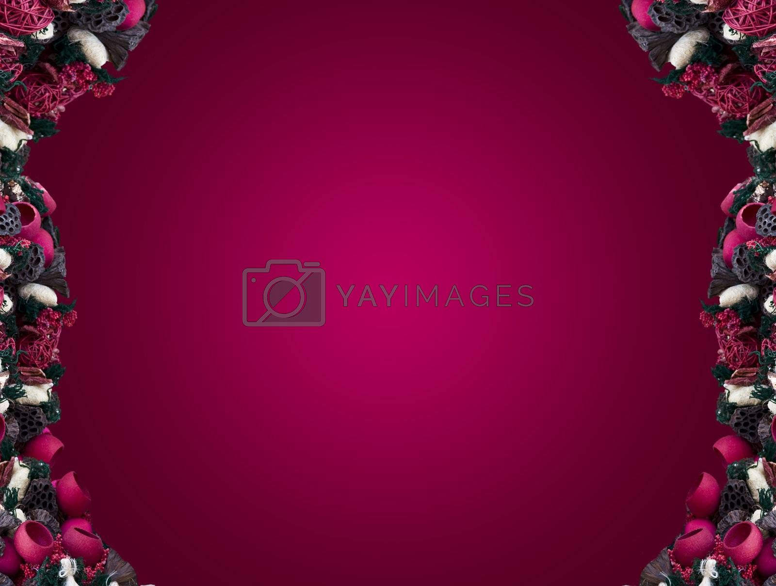 Ticket with spices shaded pink background