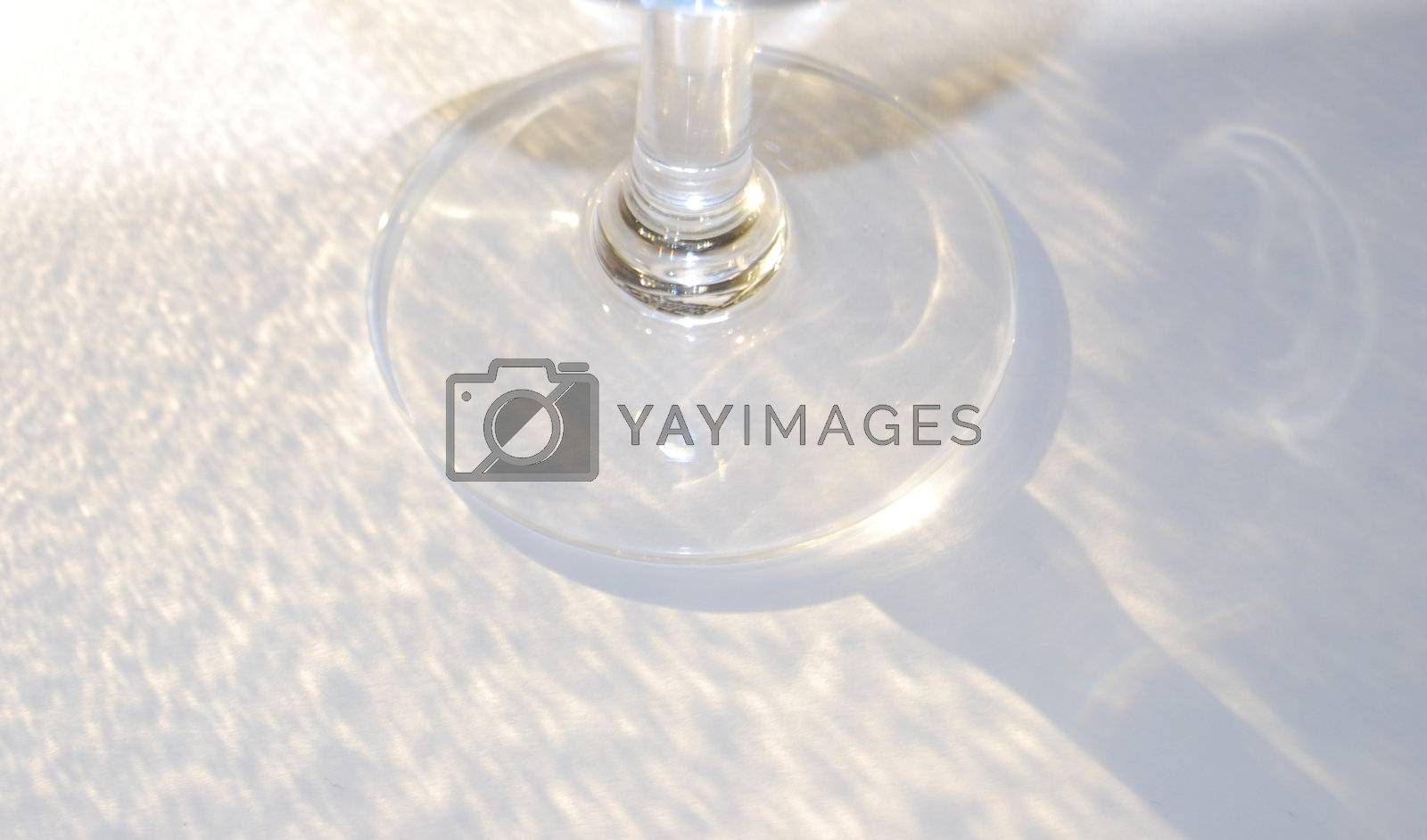 Handmade cristallglass with reflection