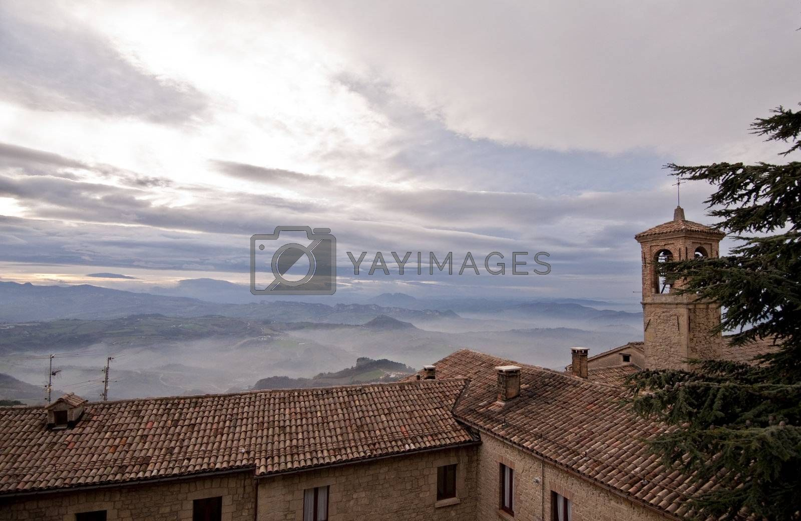 Panoramic views from the 'top of San Leo