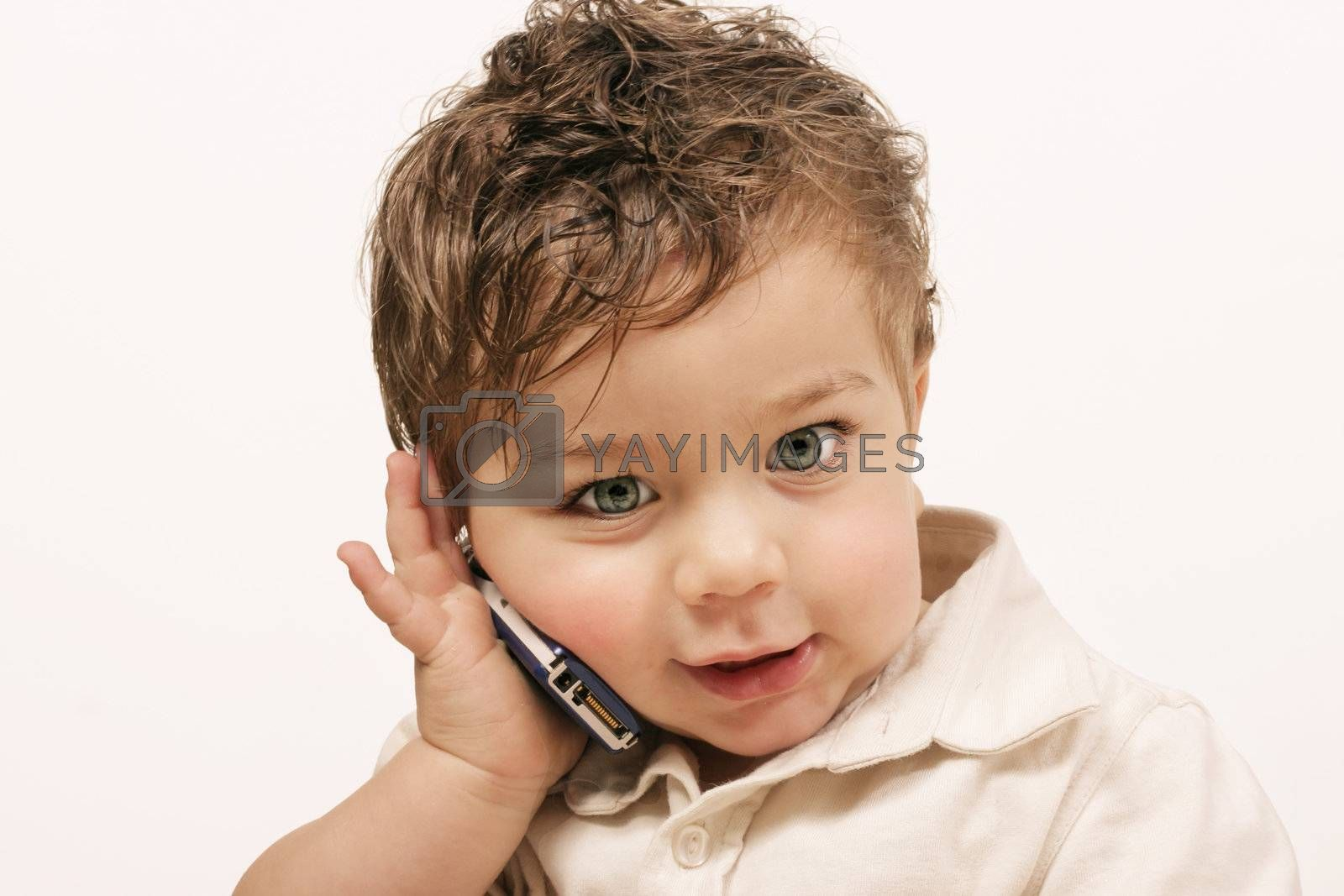 Toddler Talking on Phone by lovleah