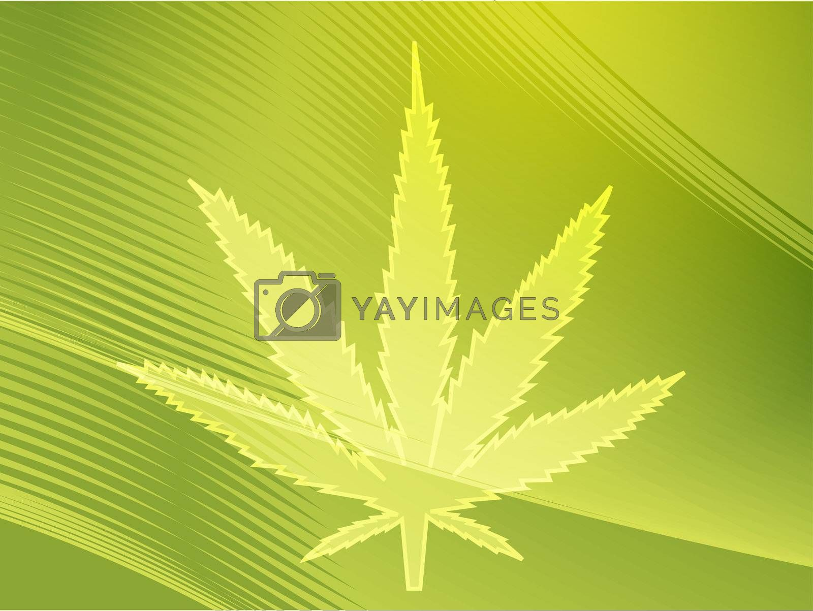 Marijuana cannabis leaf illustration, abstract symbol design
