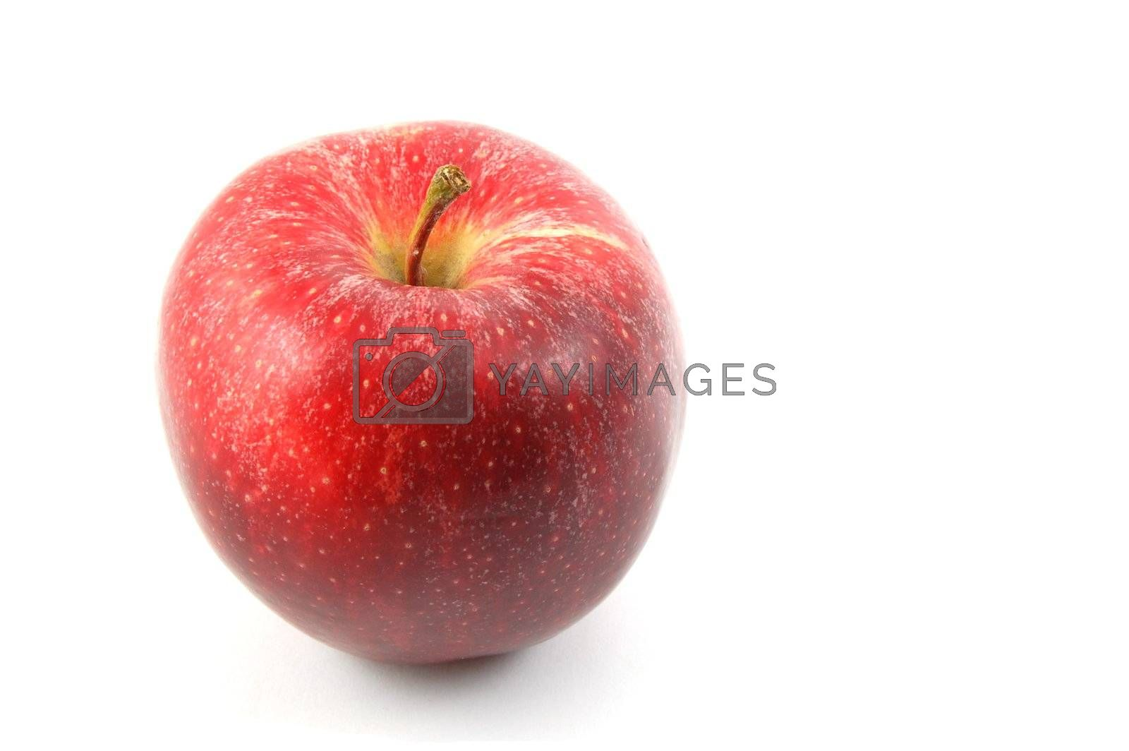 fresh red apple isolated on a white background