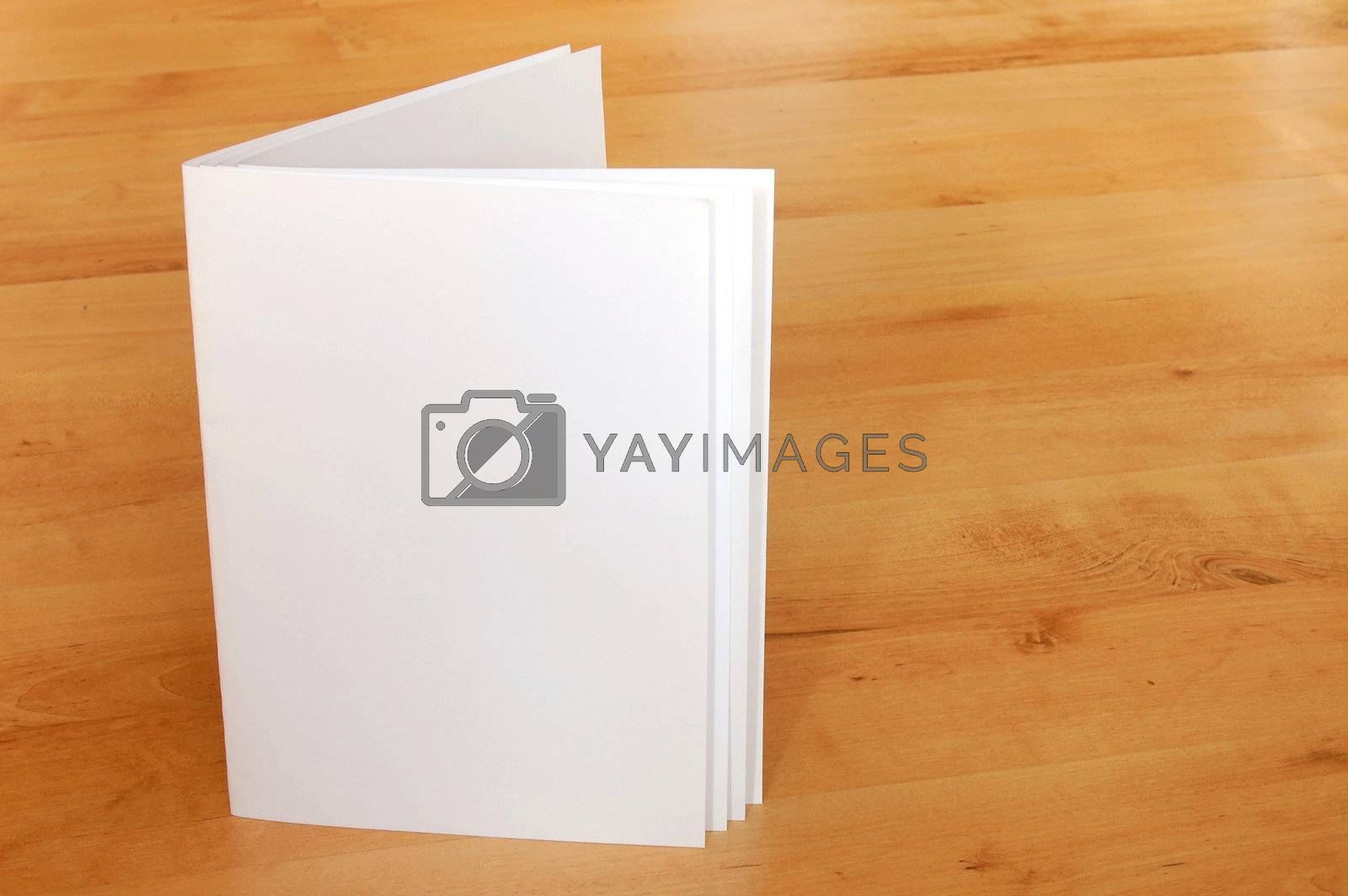 empty paper book or magazine with copyspace