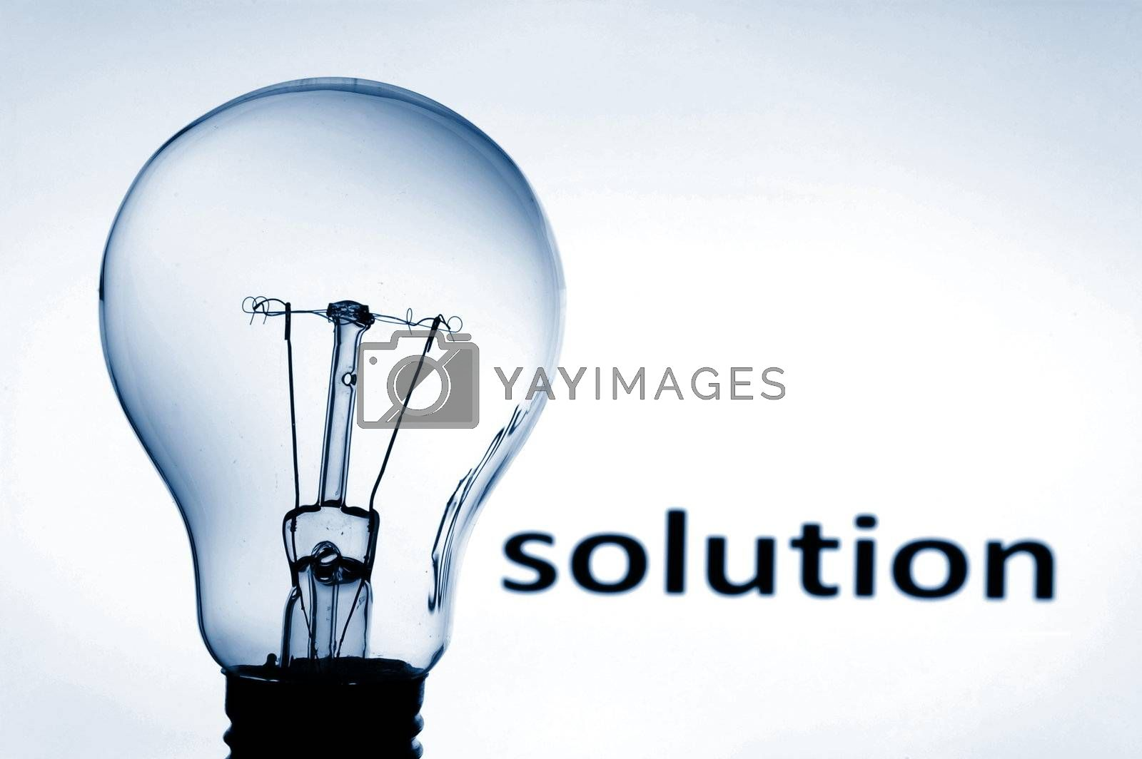 bulb showing concept of business problems and success