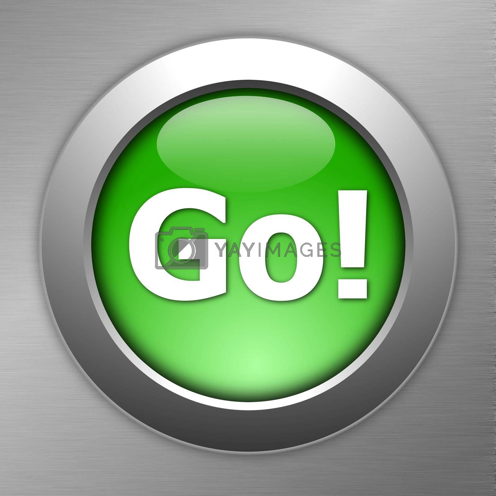 Royalty free image of green go button by gunnar3000