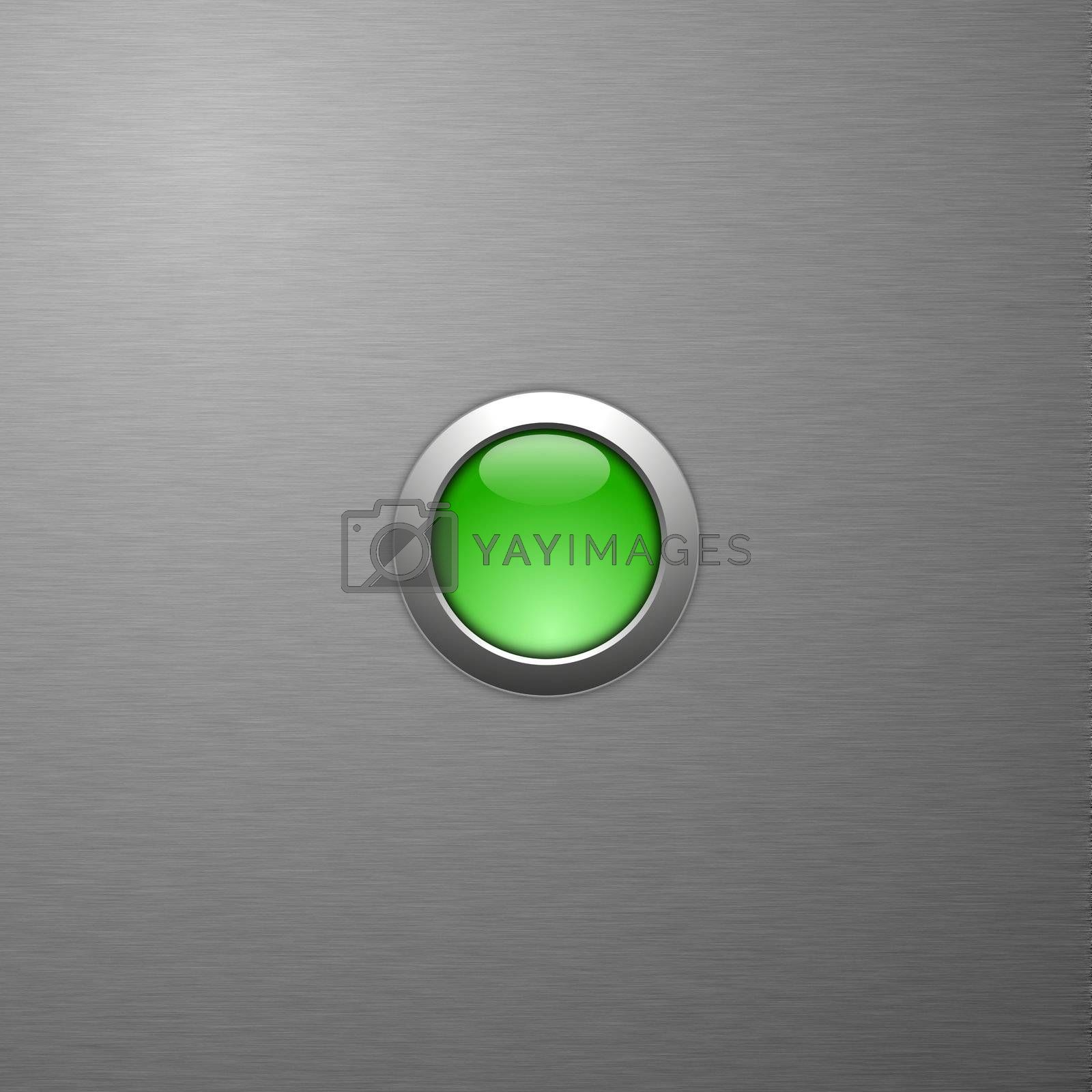 Royalty free image of green button by gunnar3000