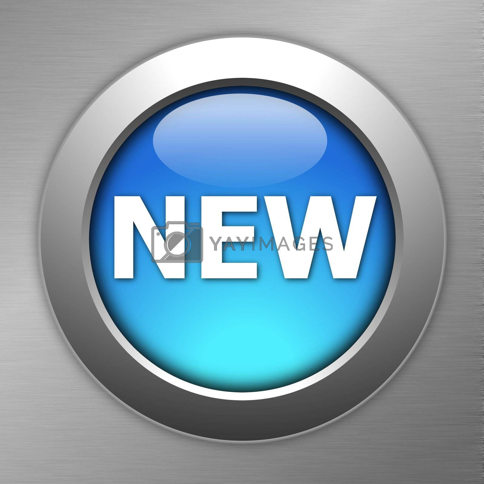 Royalty free image of blue new button by gunnar3000