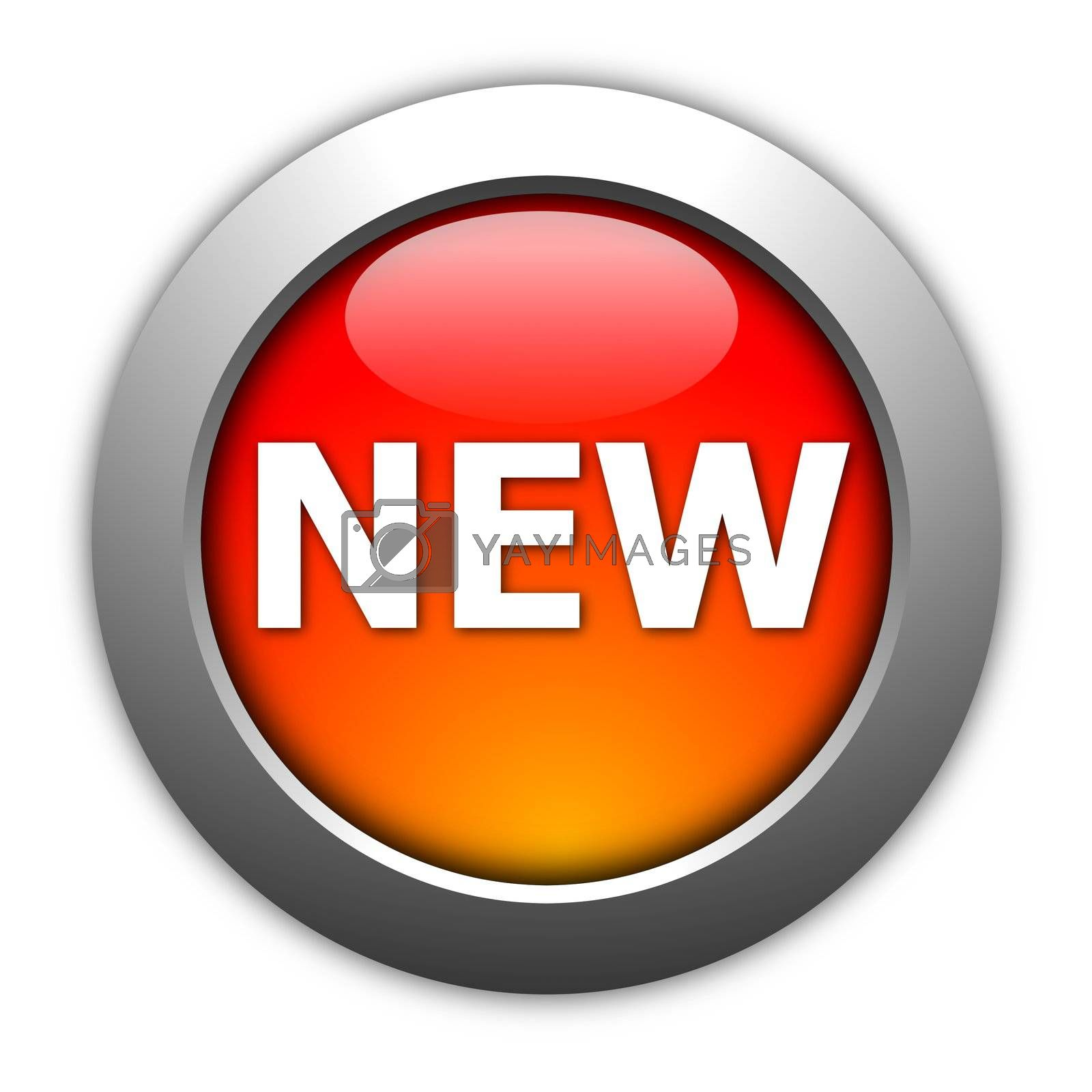 Royalty free image of new button by gunnar3000