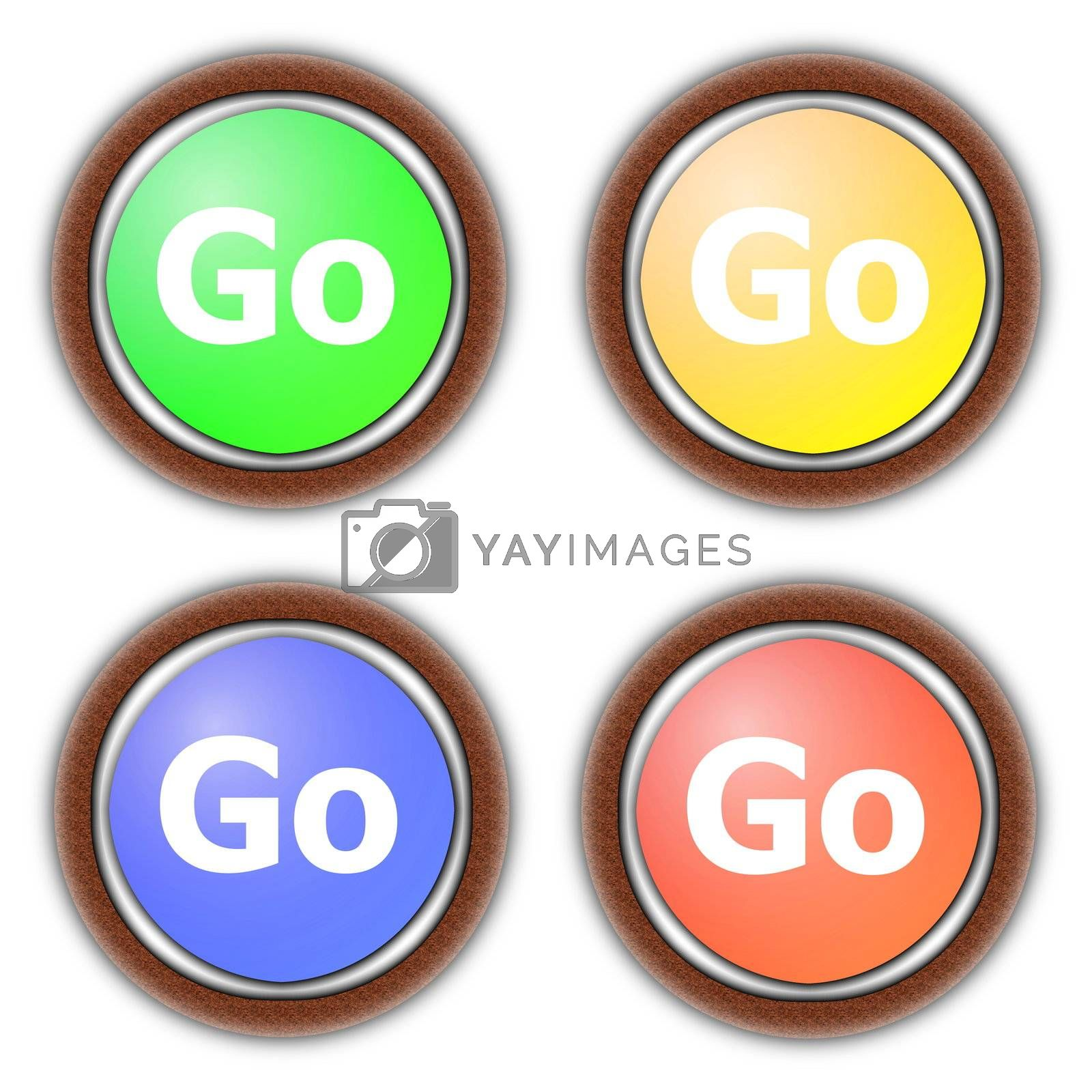 Royalty free image of go button collection by gunnar3000