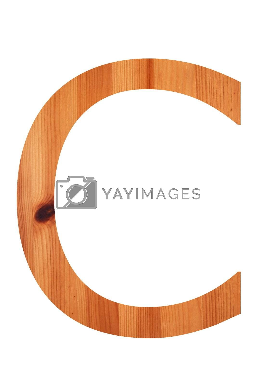 Royalty free image of wood alphabet C by gunnar3000