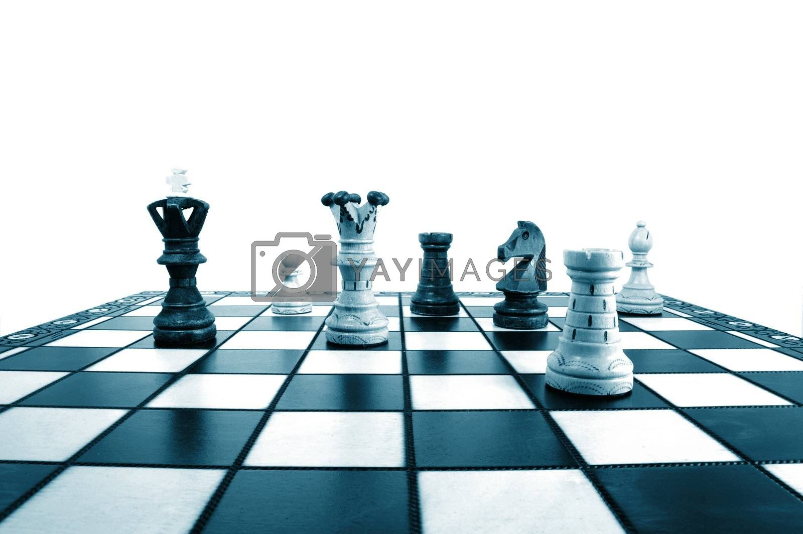 chess pieces showing concept of power strategy and success in business