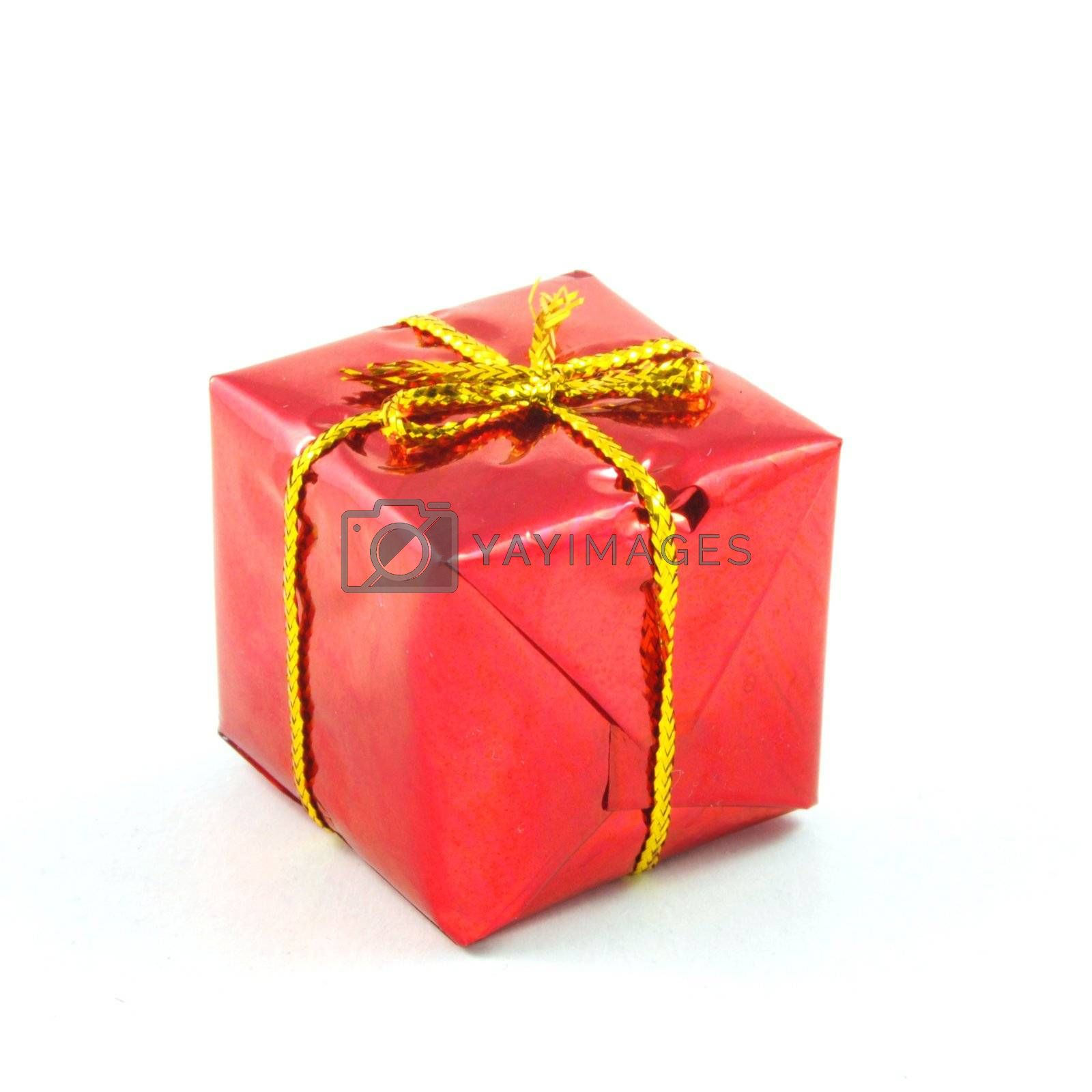 xmas or christmas present box isolated on white background