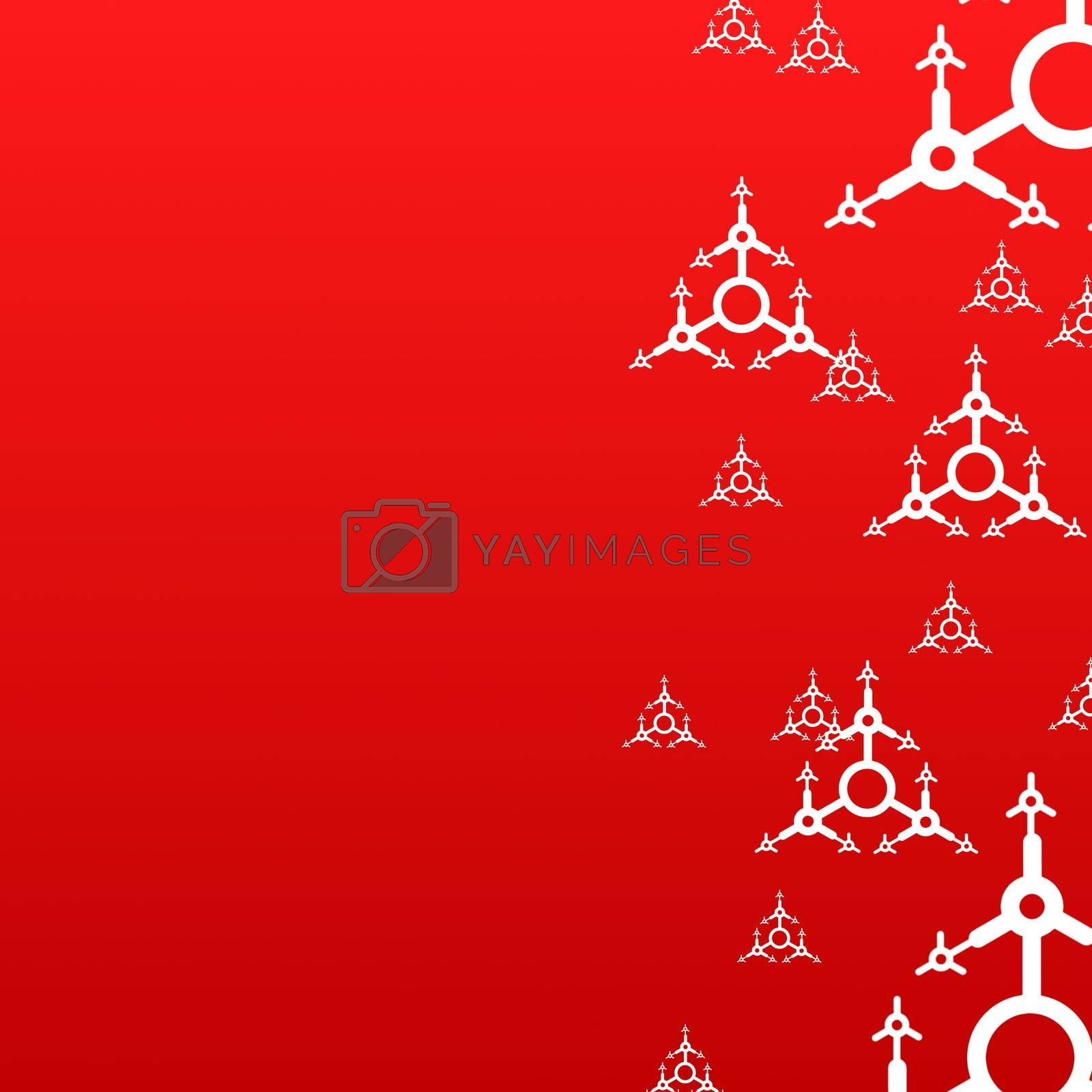 red xmas background with copyspace for text message