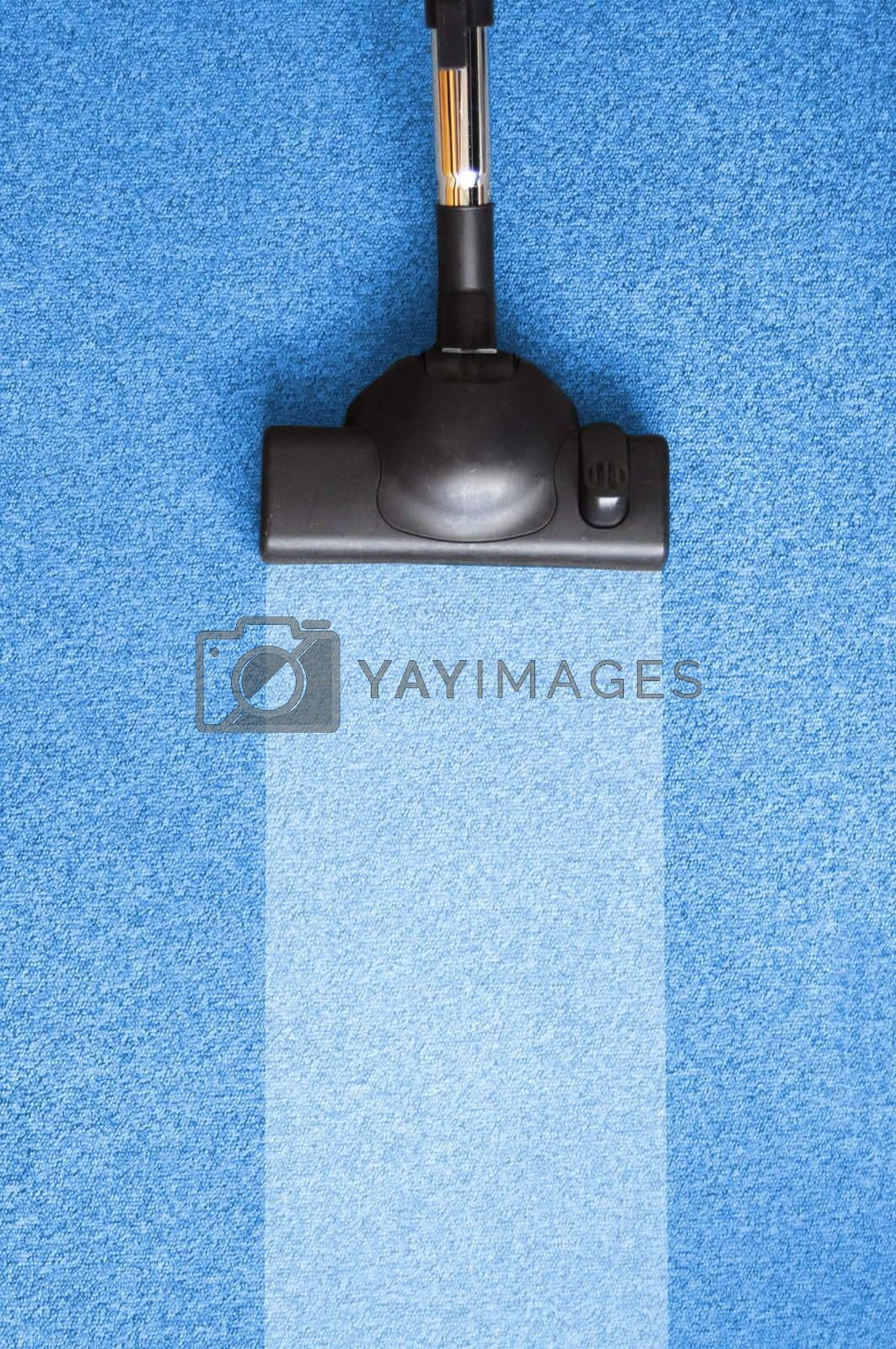 vacuum cleaner and copyspace for text message