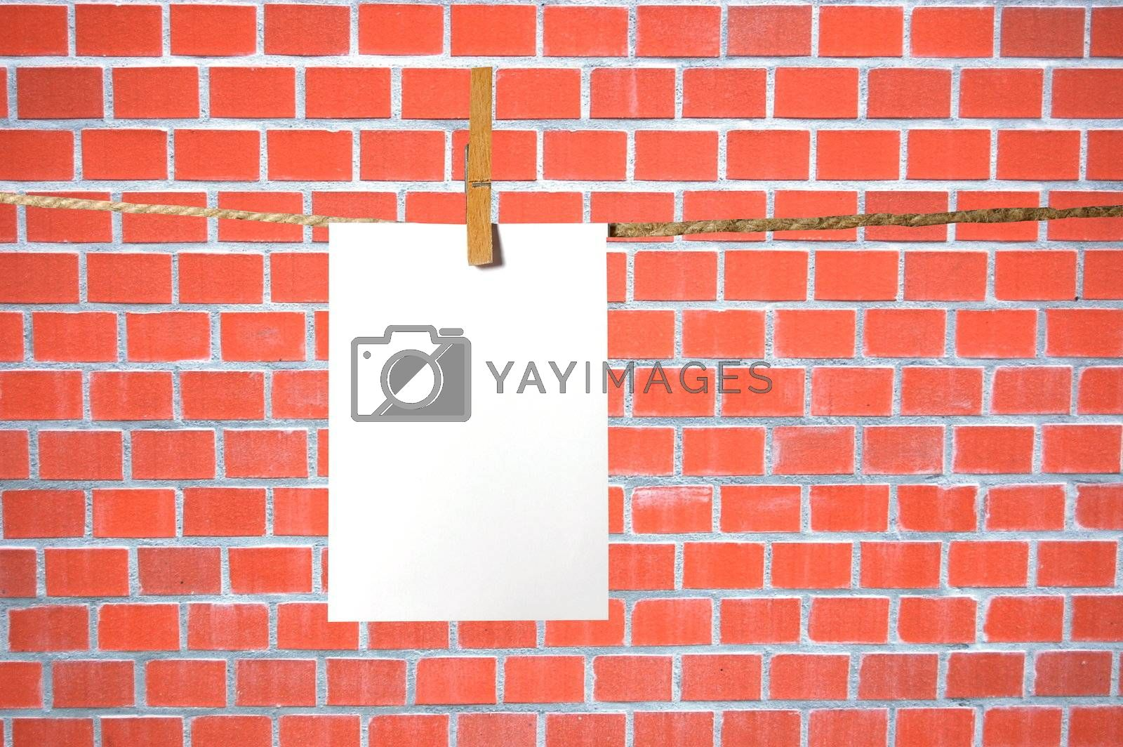 blank sheet of paper on a background