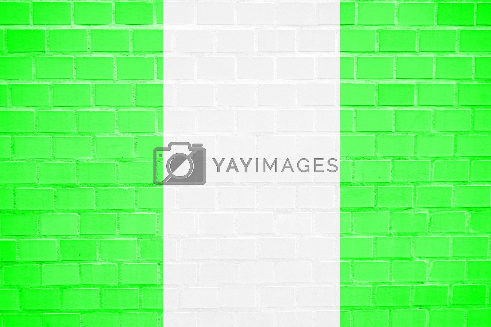 flag painted on a brickwall can be used as background