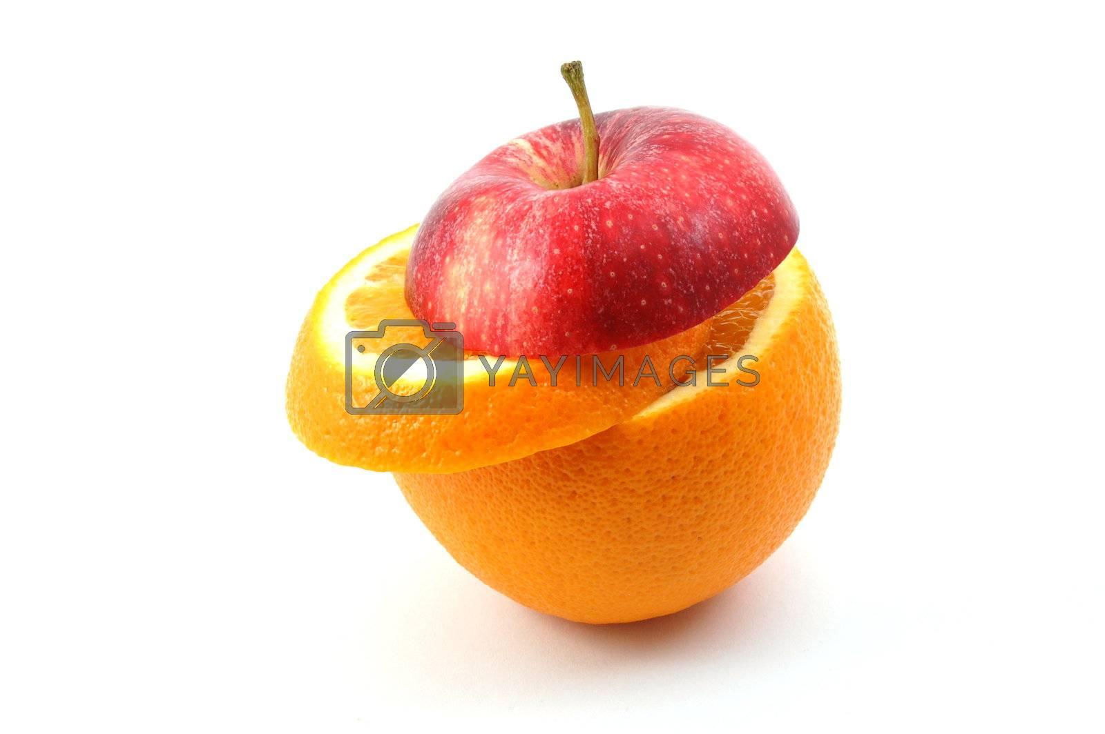fresh fruits isolated on  a white background