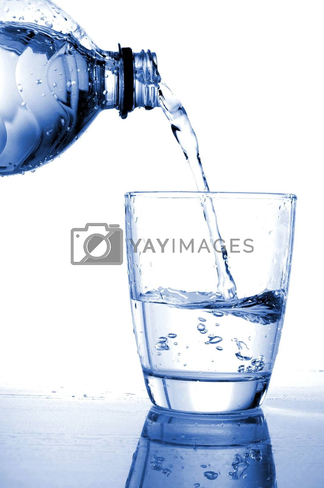 cool water drink isolated on white background